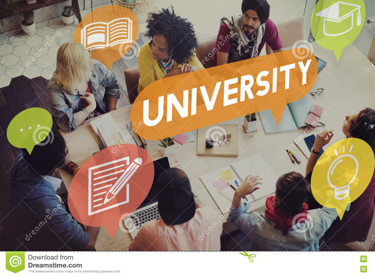 University Research Education College Concept
