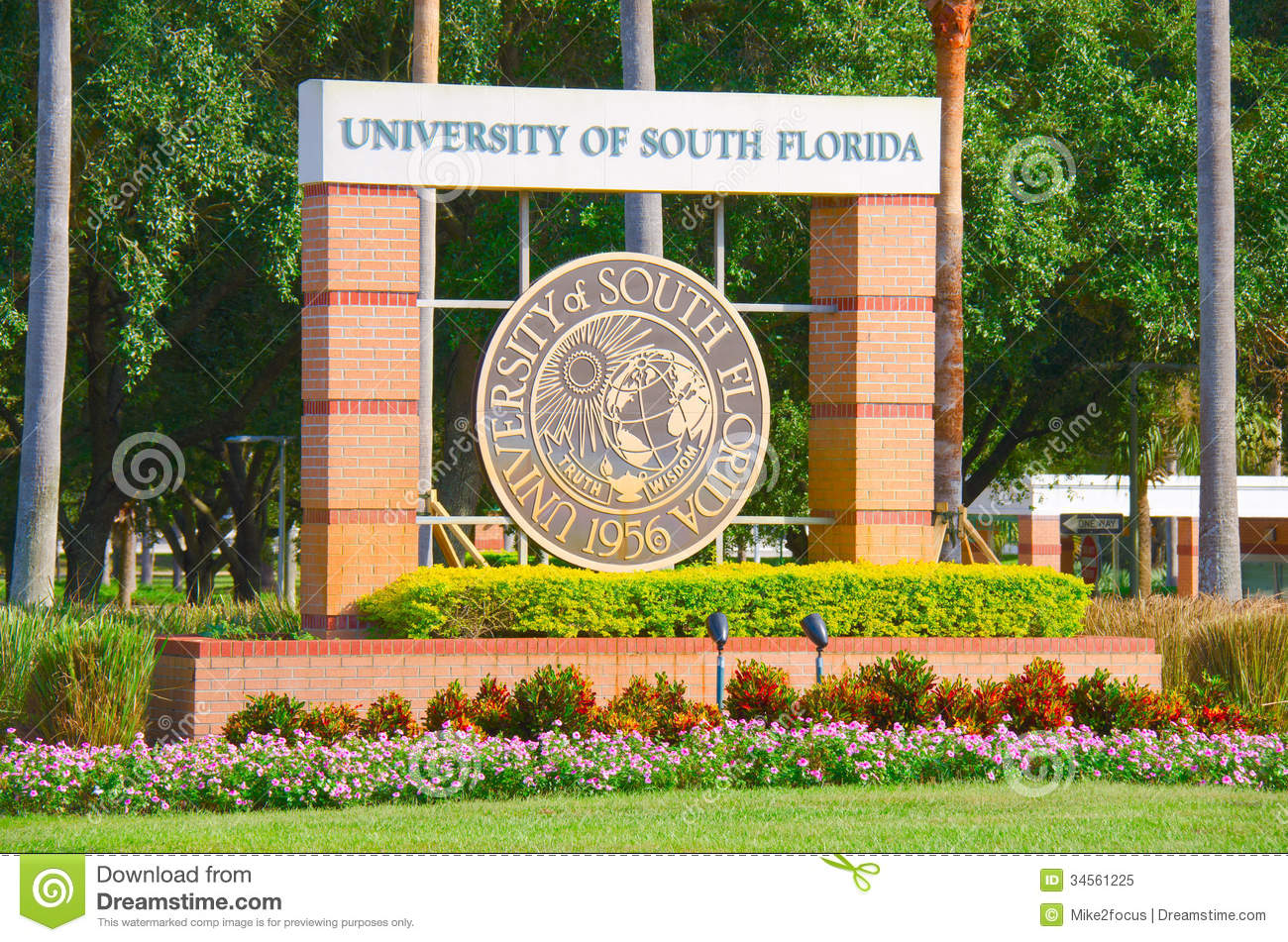 University Of South Florida Campus Entrance Sign Editorial