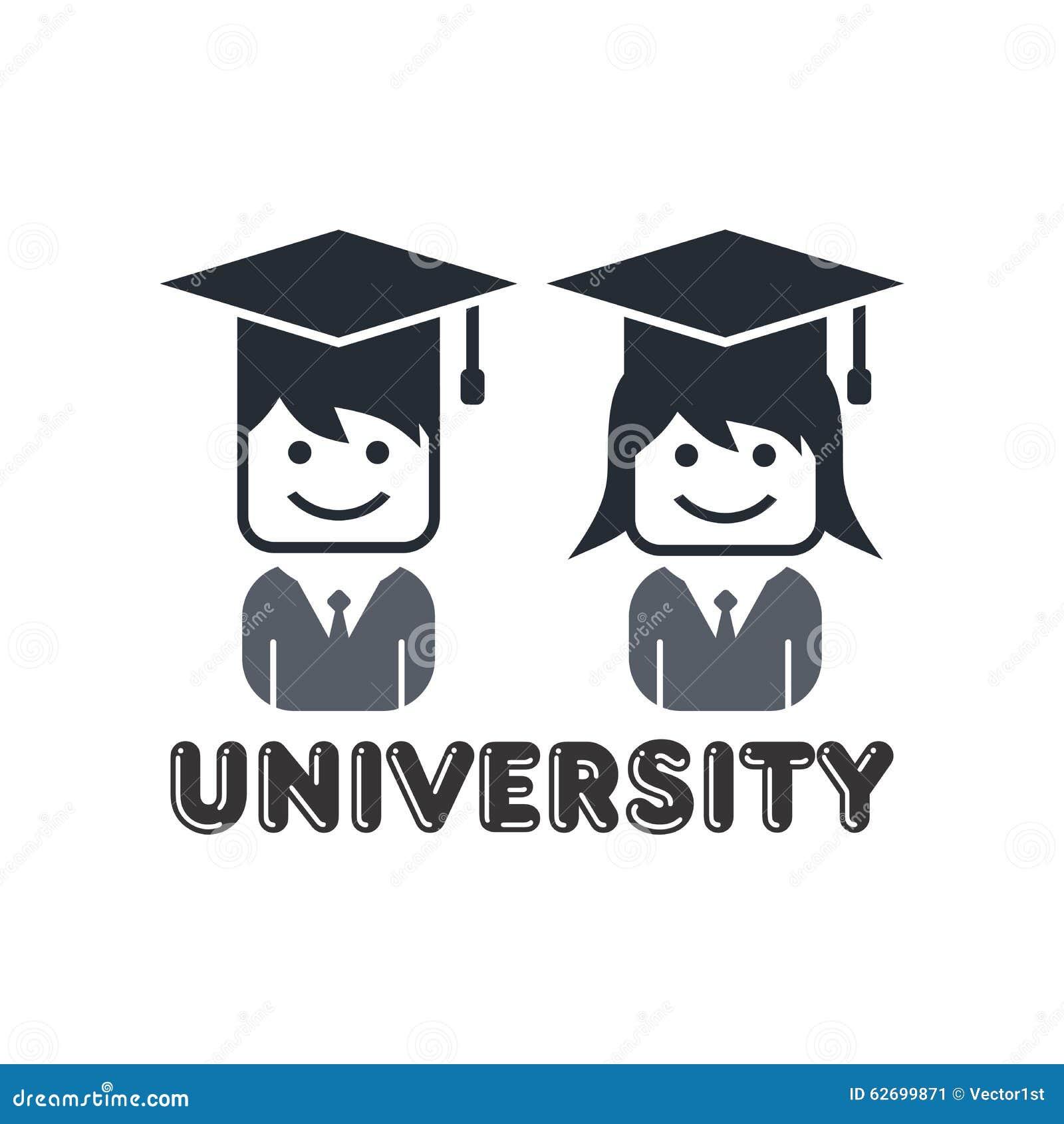 University Student Avatar Stock Vector. Illustration Of