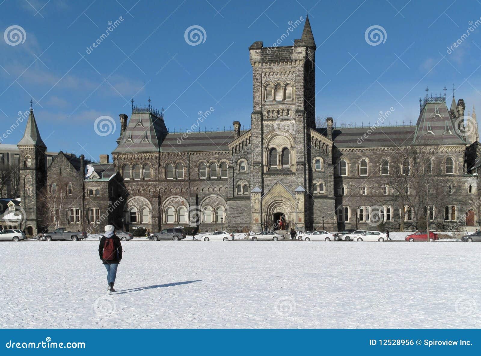 University in winter