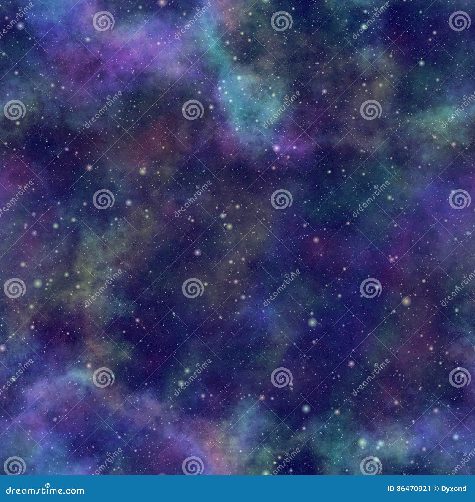 Universo variopinto astratto, cielo stellato di notte della nebulosa, spazio cosmico multicolore, fondo galattico di struttura, i