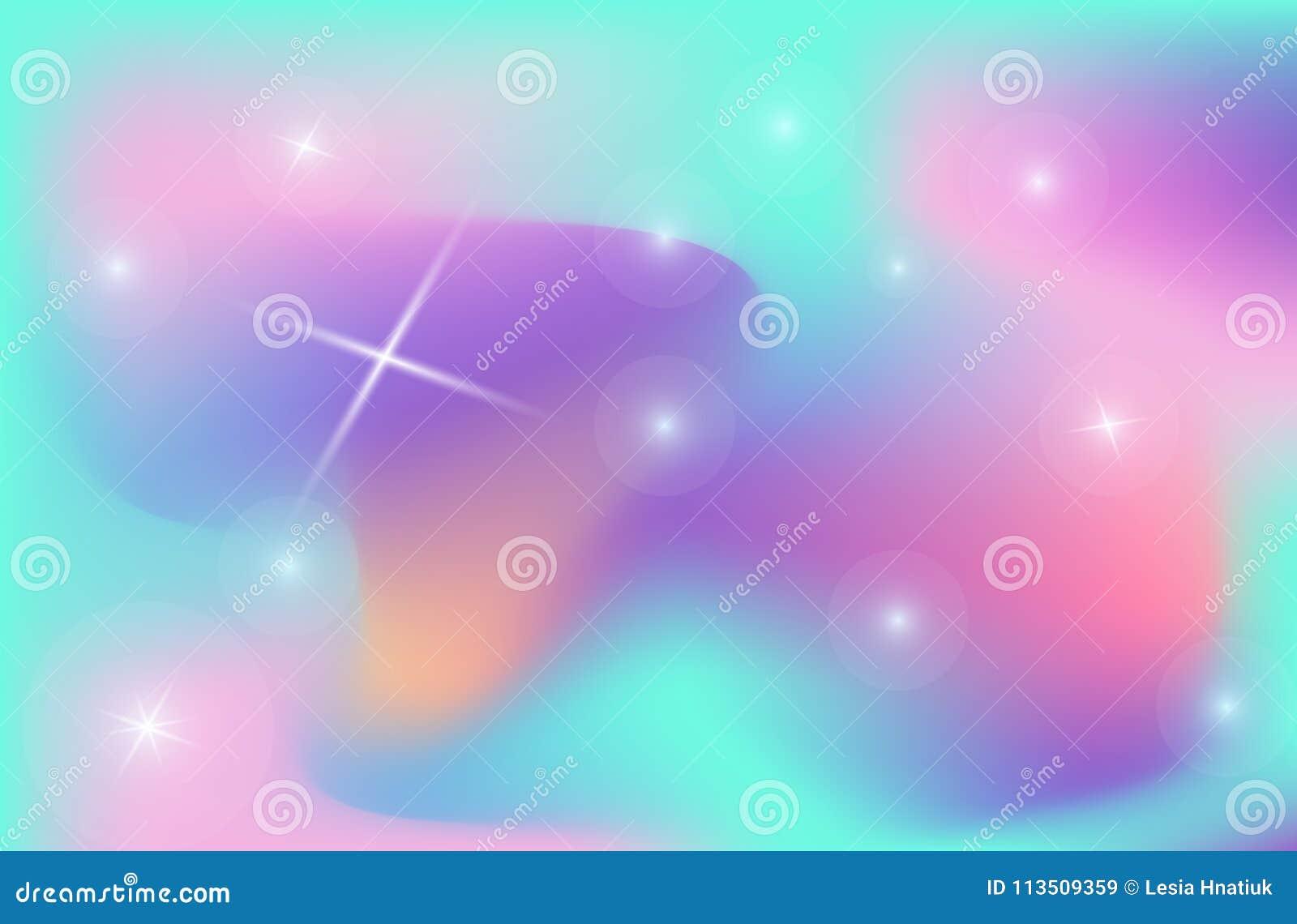Universum för vektor för ingrepp för lutning för färg för enhörningbakgrundbakgrund