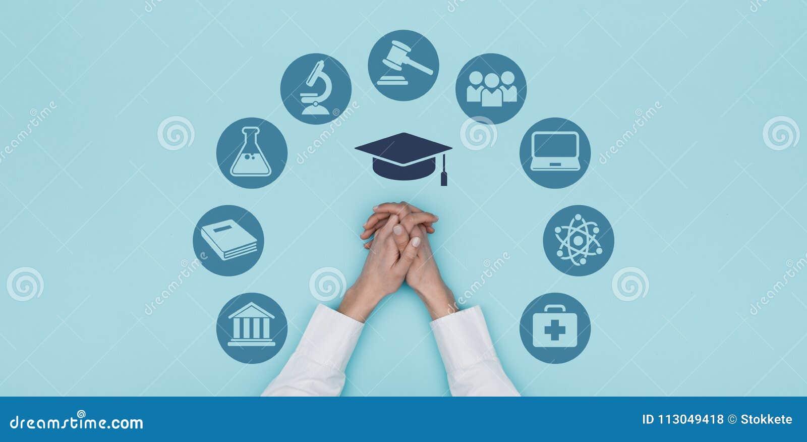 Uniwersyteta i edukaci ikony