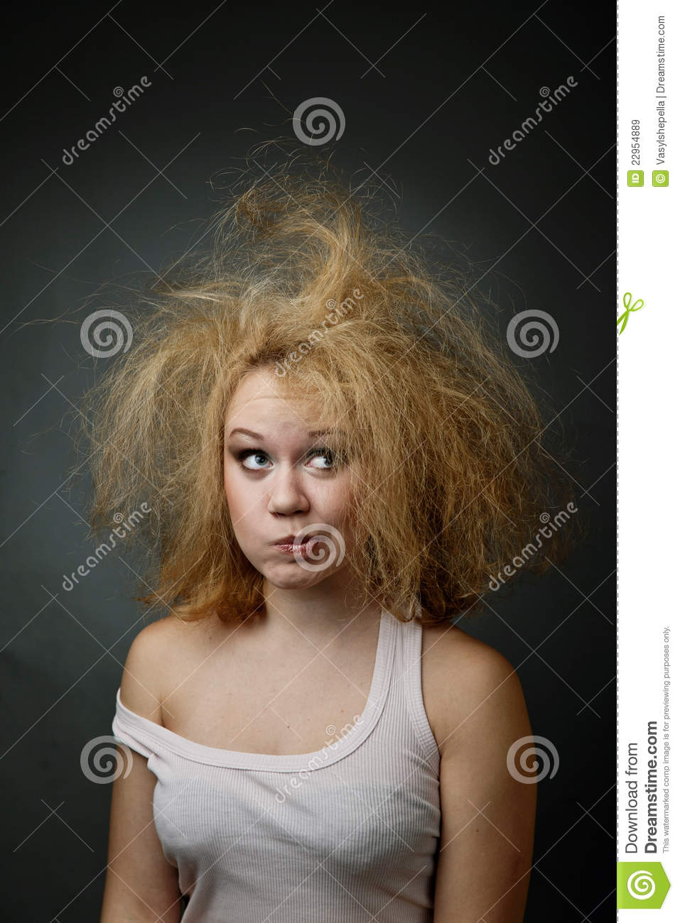 Unkempt Girl Royalty Free Stock Images - Image: 22954889