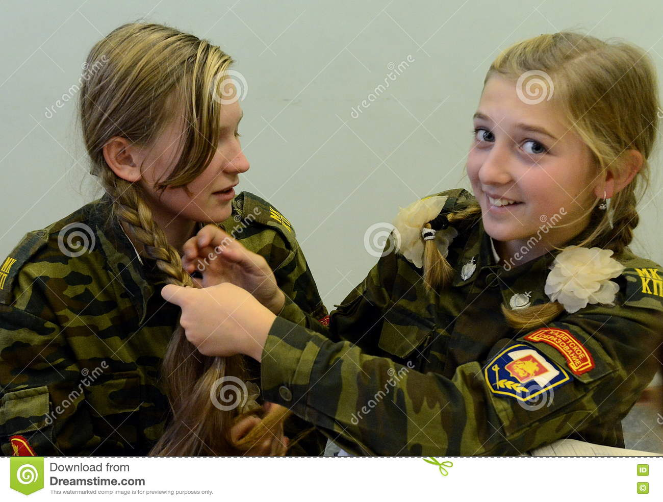 The Unknown Girl Of The Cadet Corps  Editorial Stock Image - Image