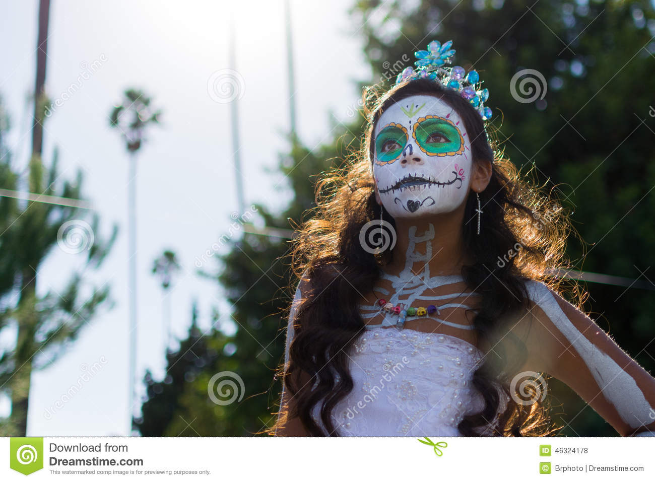 Unknown girl at the 15th annual Day the Dead Festival