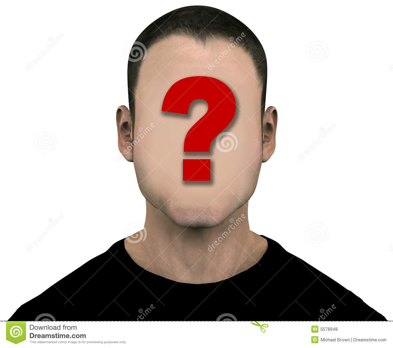 Anonymous Face Question Mark Unknown Man Blank Empt...