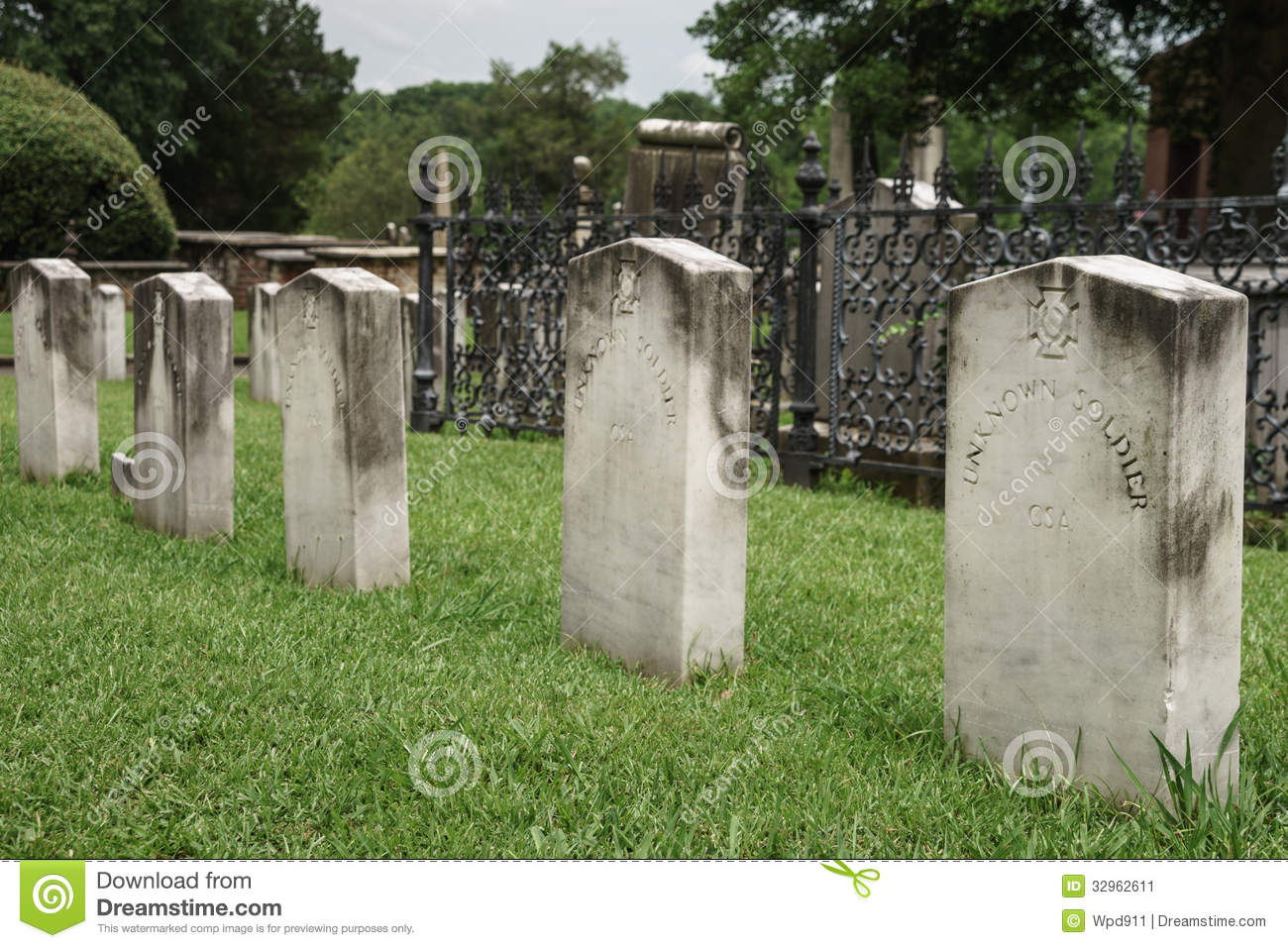 Unknown Soldier Tombstone stock image  Image of confederate