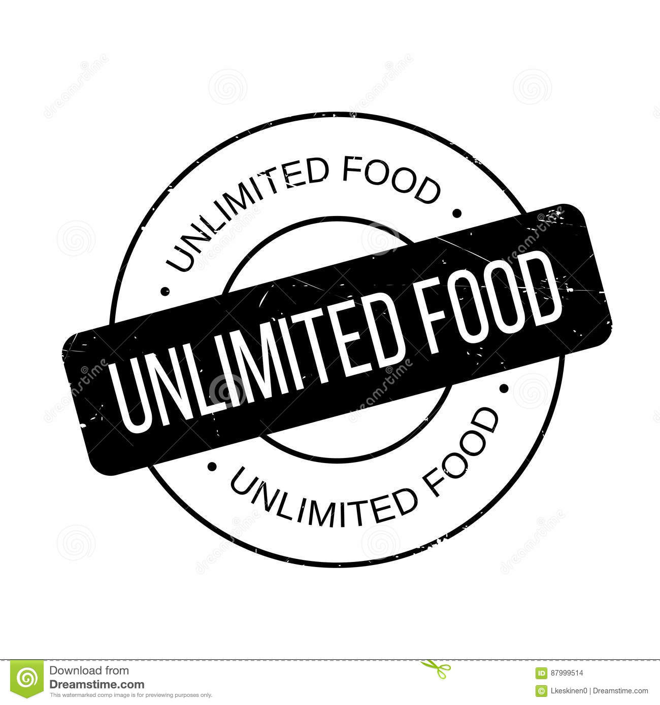 Unlimited Food Rubber Stamp Stock Photo - Image: 87999514
