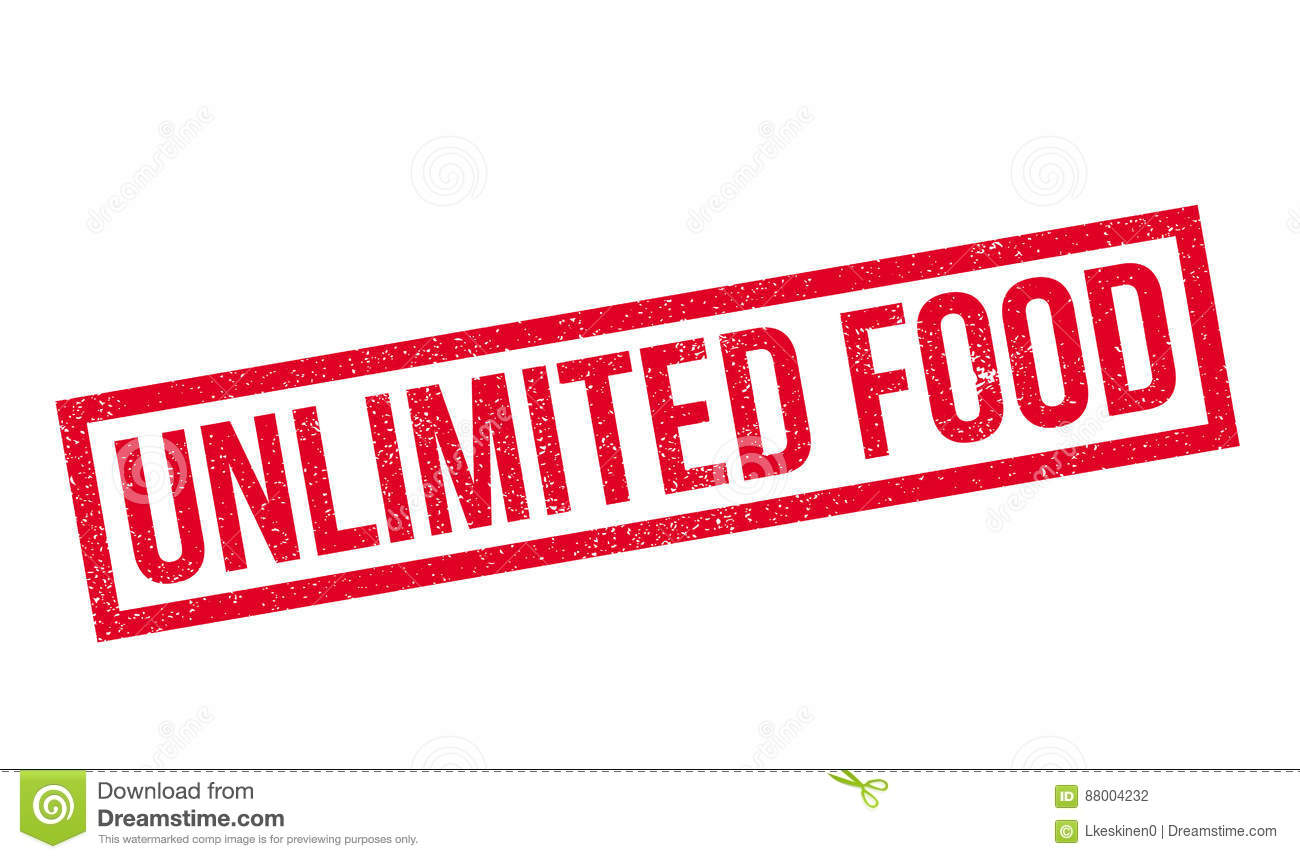 Unlimited Food Rubber Stamp Stock Illustration - Image ...