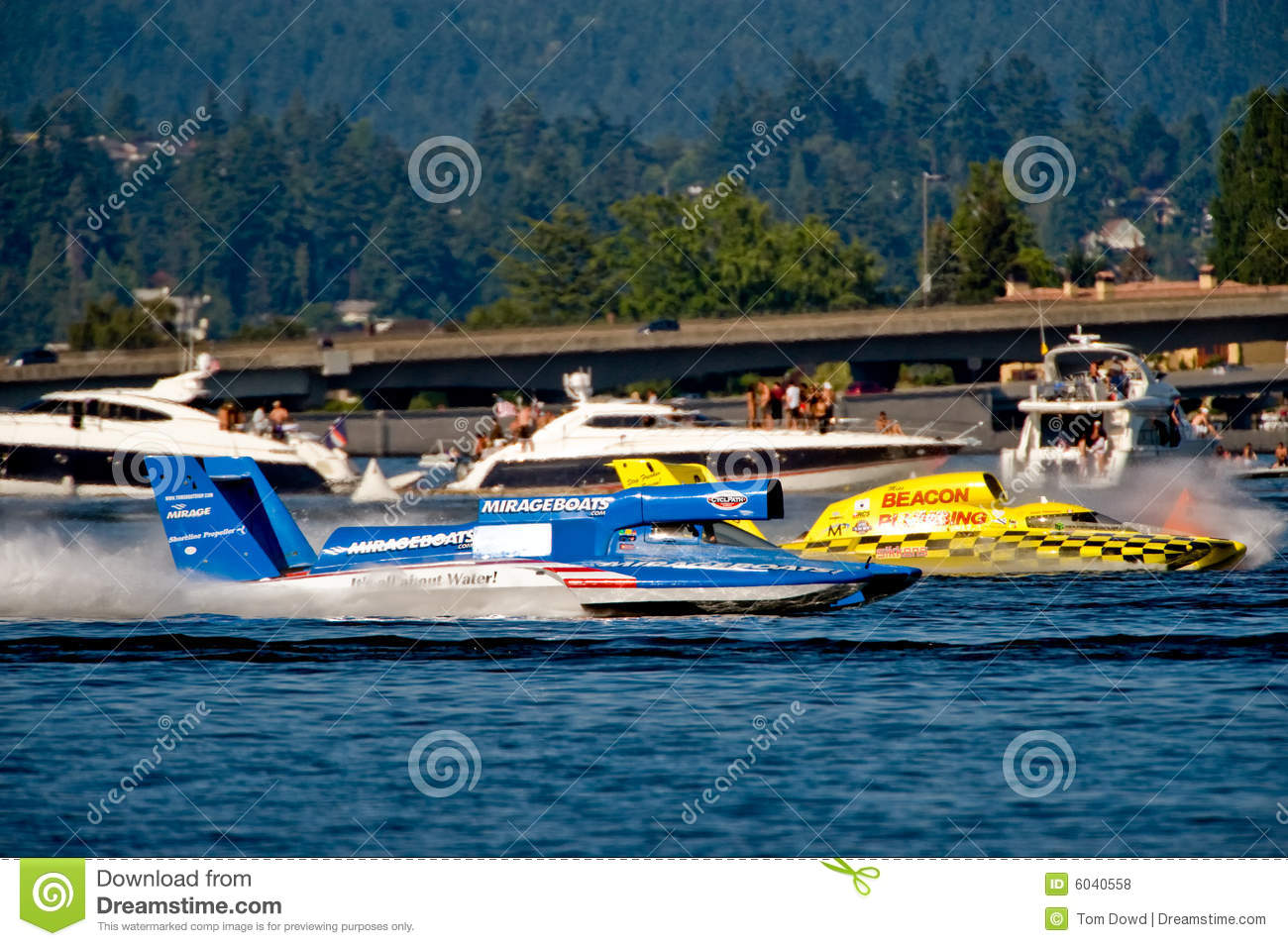 Unlimited Hydro Race Boats editorial stock photo  Image of seafair