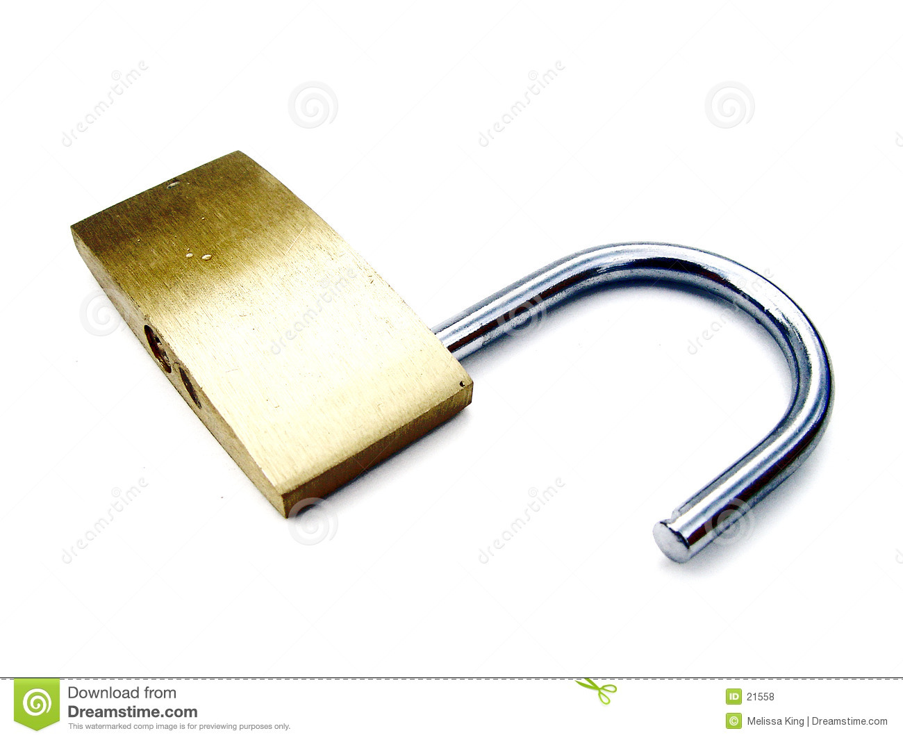 Unlocked Padlock - High Key