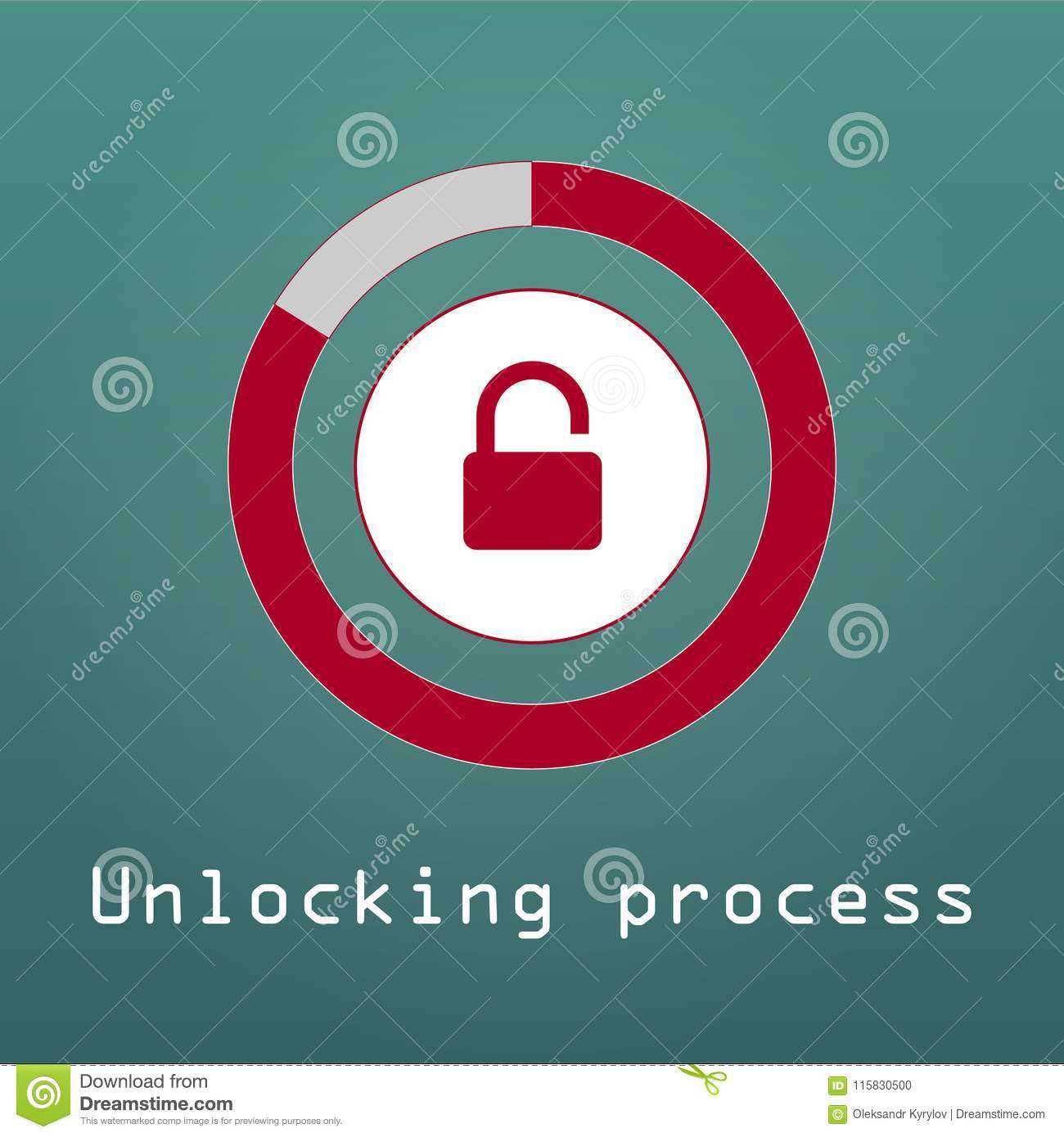 Unlocking Process Of Personal Data Security Decryption, Login