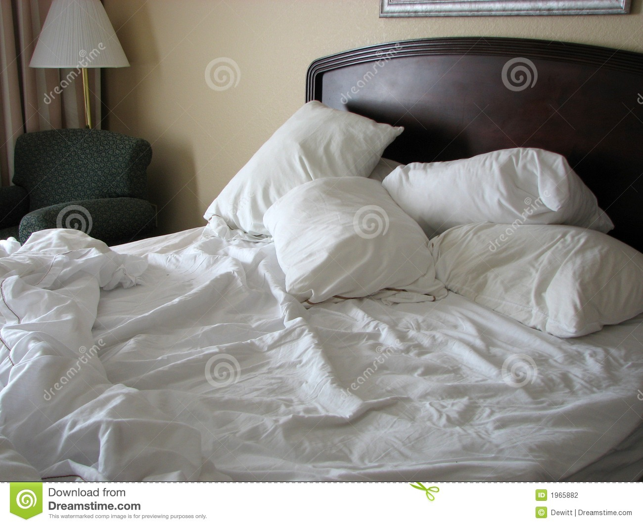 unmade bed stock photo image of spread sleep messy 1965882