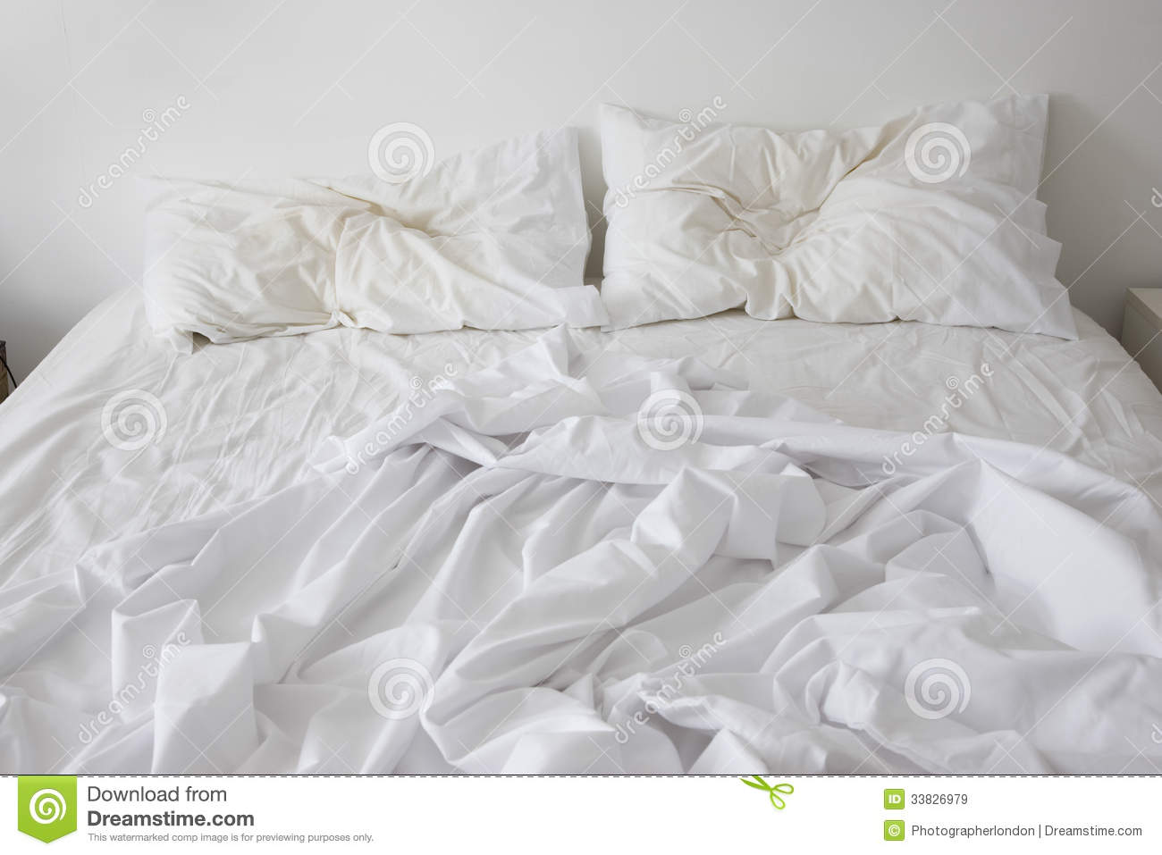 Unmade Bed Royalty Free Stock Images - Image: 33826979