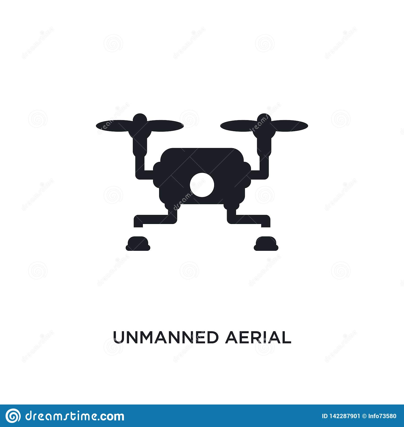 unmanned aerial vehicle isolated icon. simple element illustration from artificial intellegence concept icons. unmanned aerial