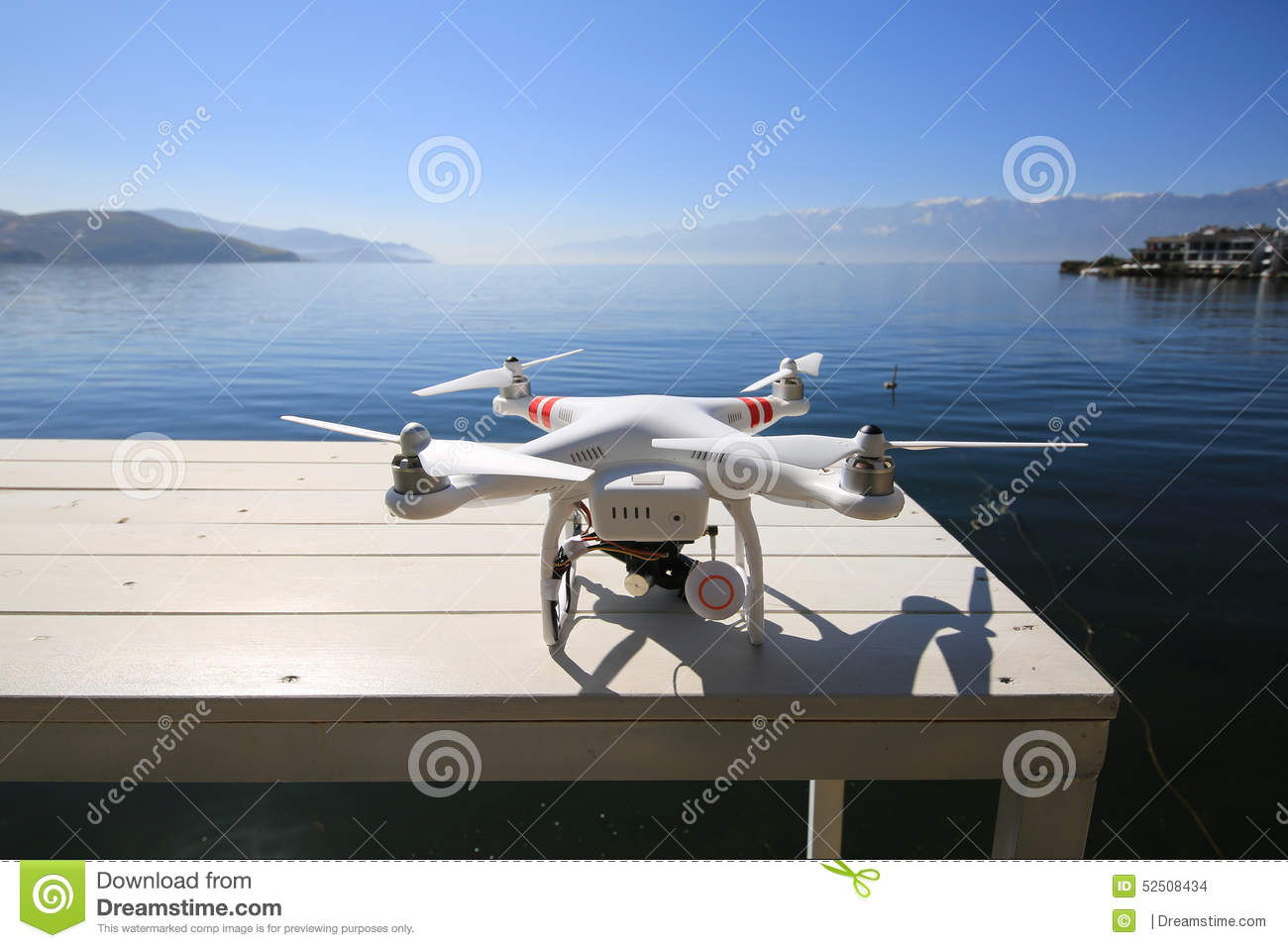 Unmanned Aerial Vehicle UAV In Blue Sky. Stock Photography ...