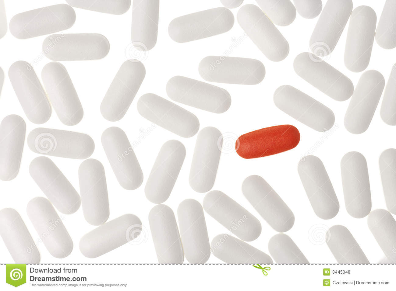 Unmarked Pills Isolated On A White Background Royalty Free