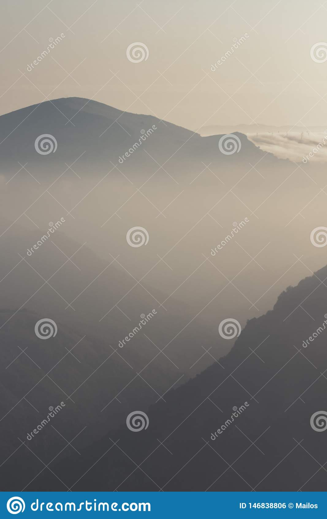 Uno di alba più bella nei mountians