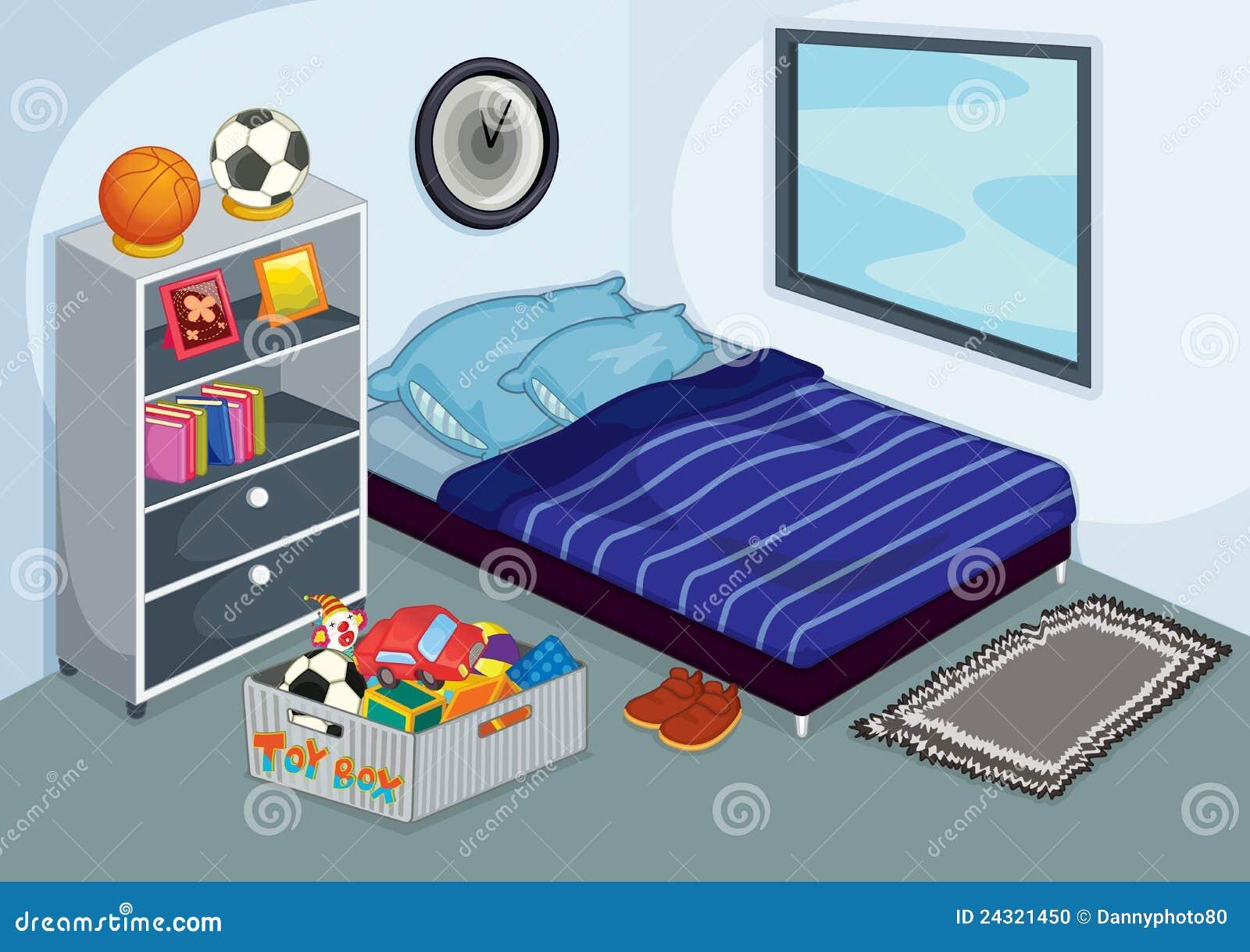 Unordentliches Schlafzimmer Vektor Abbildung - Illustration von ...