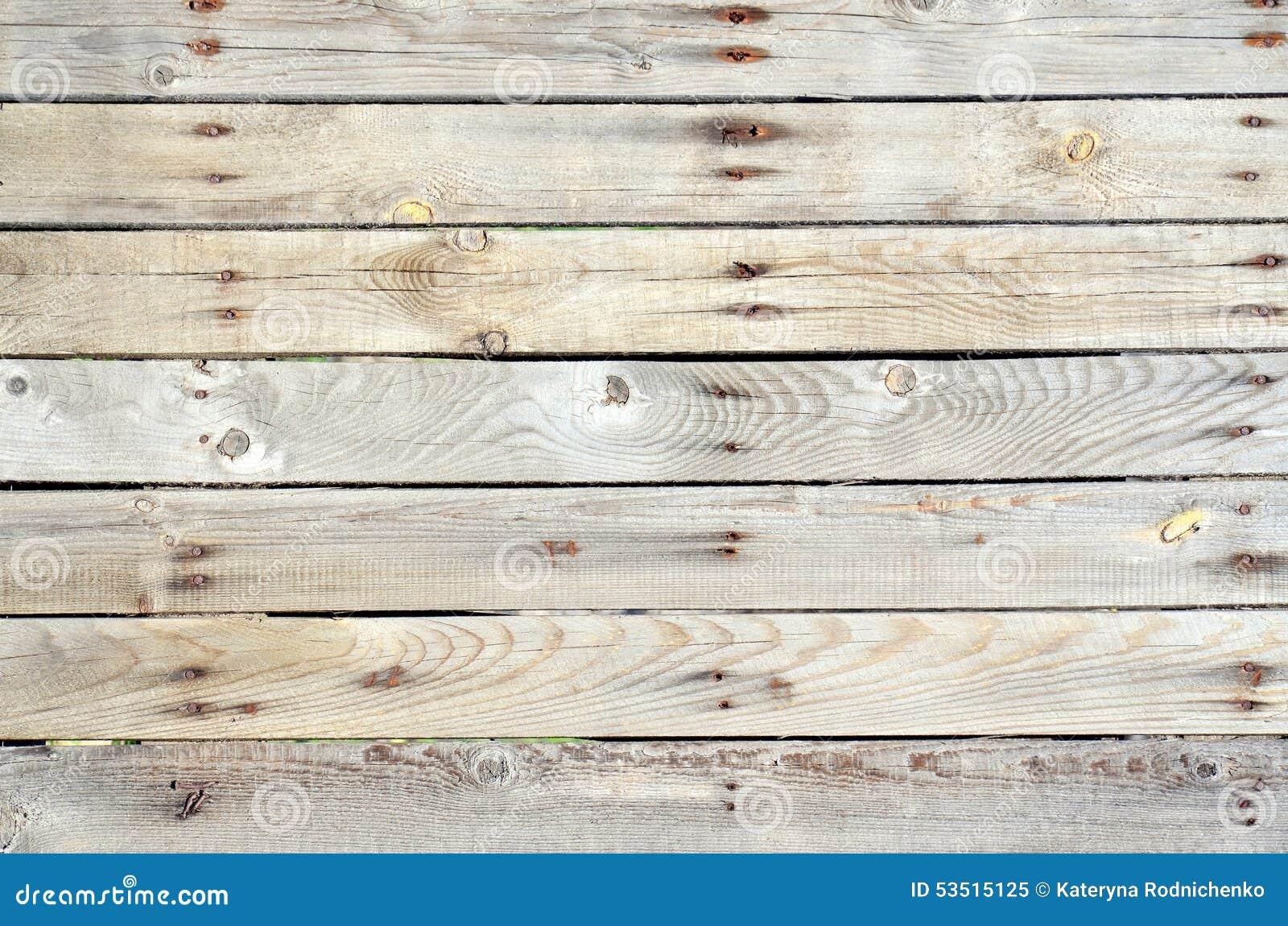 Unpainted wooden fence horizontal stock photo image