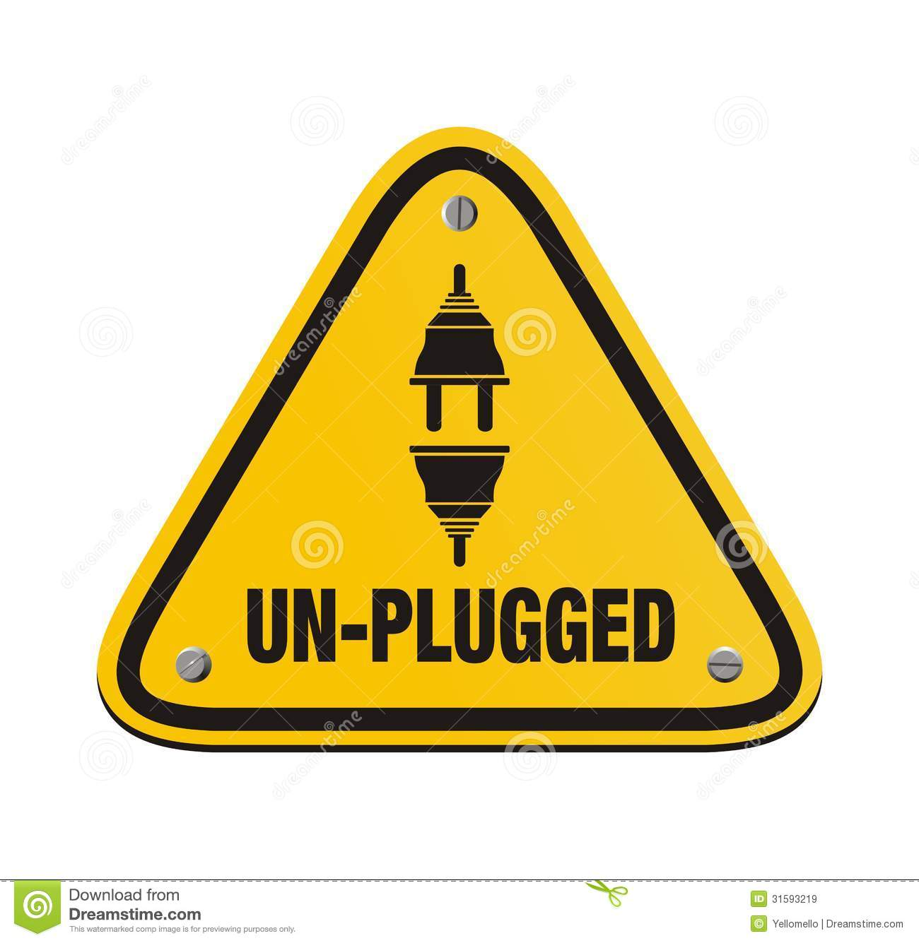 Unplugged Triangle Signs Royalty Free Stock Images - Image: 31593219