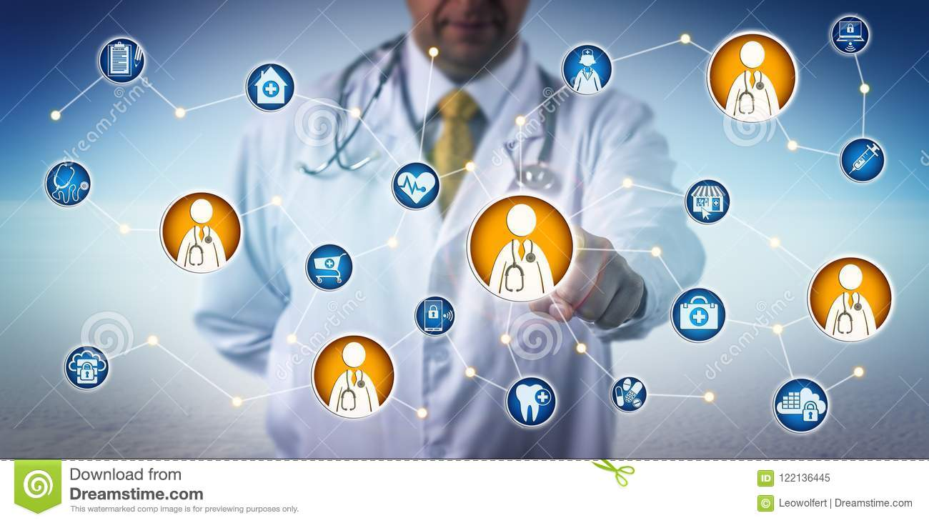 Doctor Consulting Via Clinician-To-Clinician Net