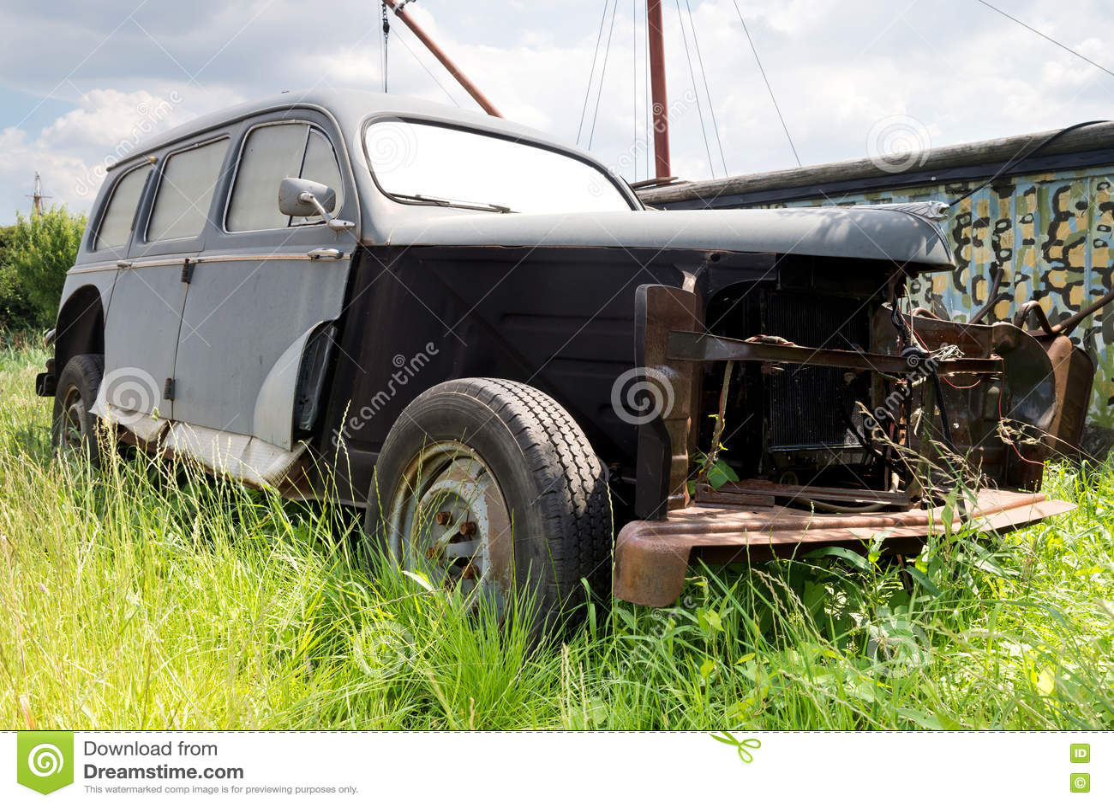 Unrestored klassieke auto