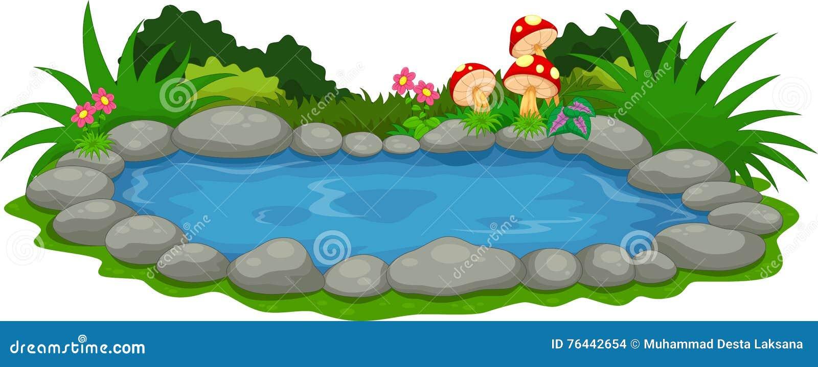 uns desenhos animados do lago pequeno ilustra u00e7 u00e3o stock Free Clip Art lake clipart free download