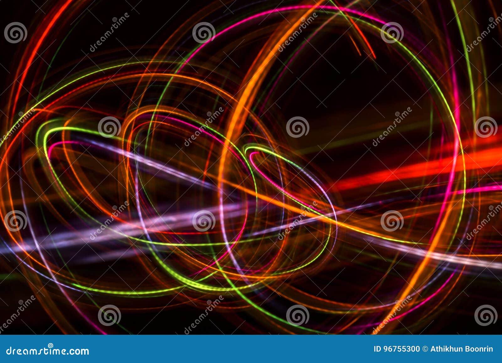 Unscharfe abstrakte Linie von LED-Licht