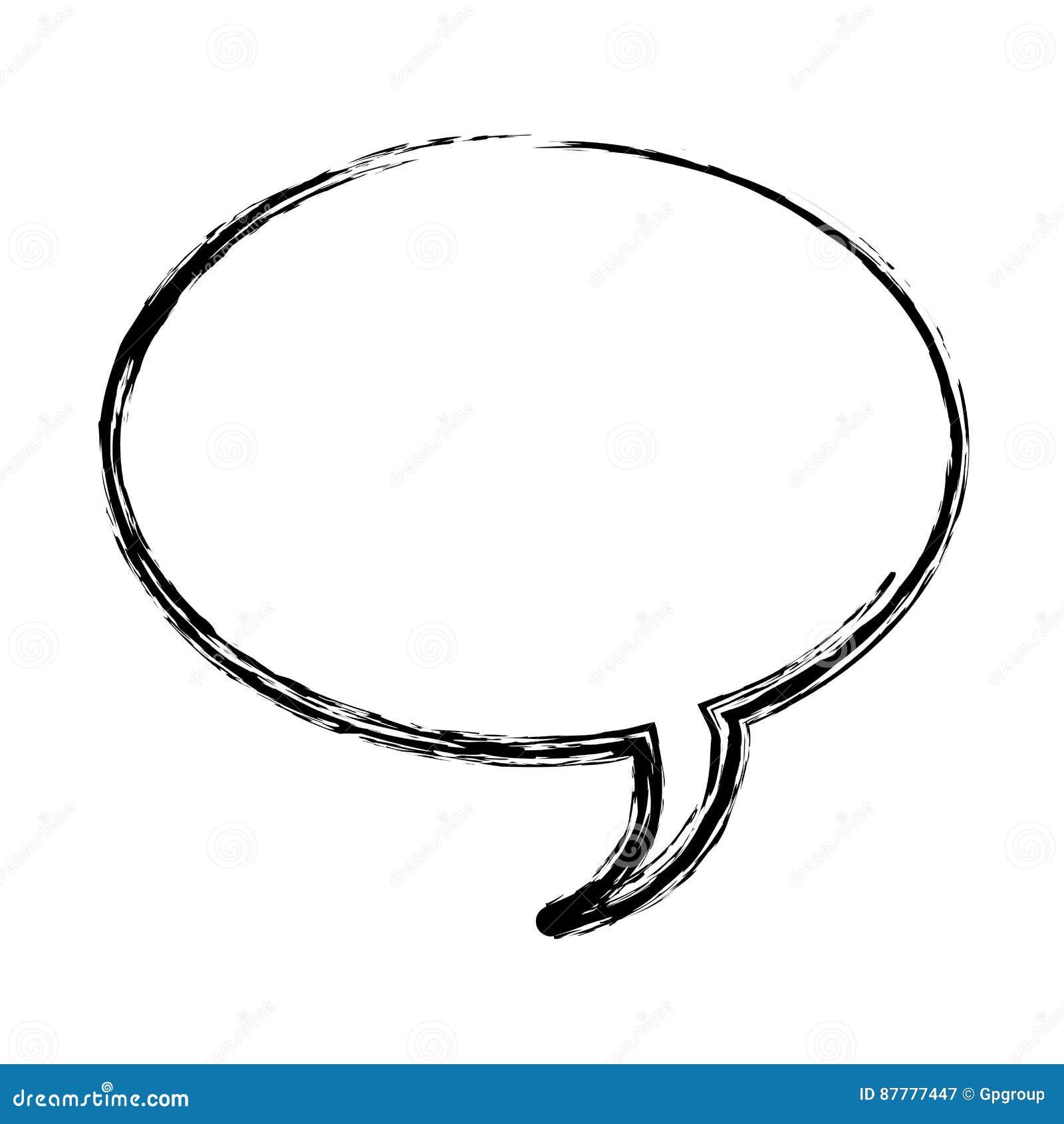 Unscharfe Dialogfeldikone des Schattenbildes ovale