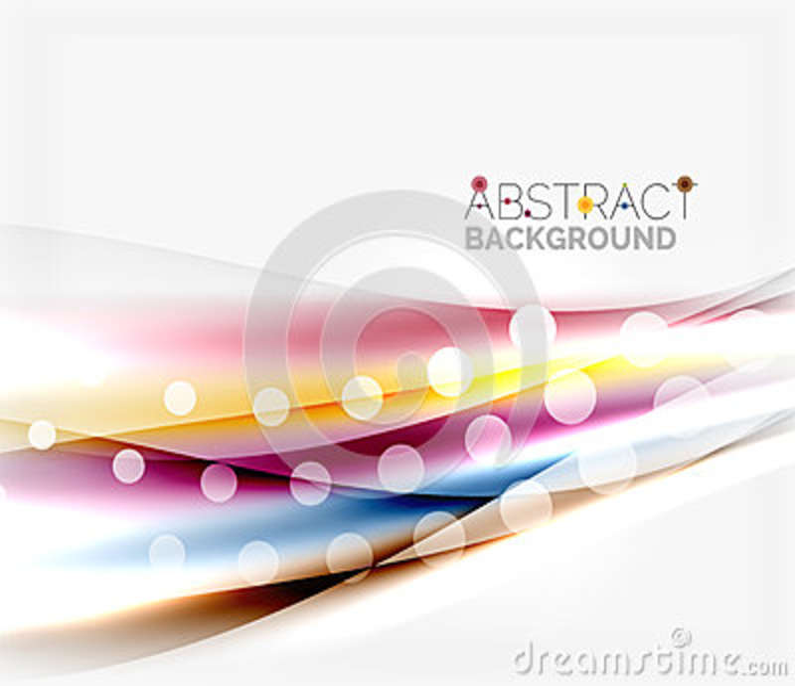 Unscharfe Farbwellen, Linien Abstrakte Hintergrundschablone des Vektors