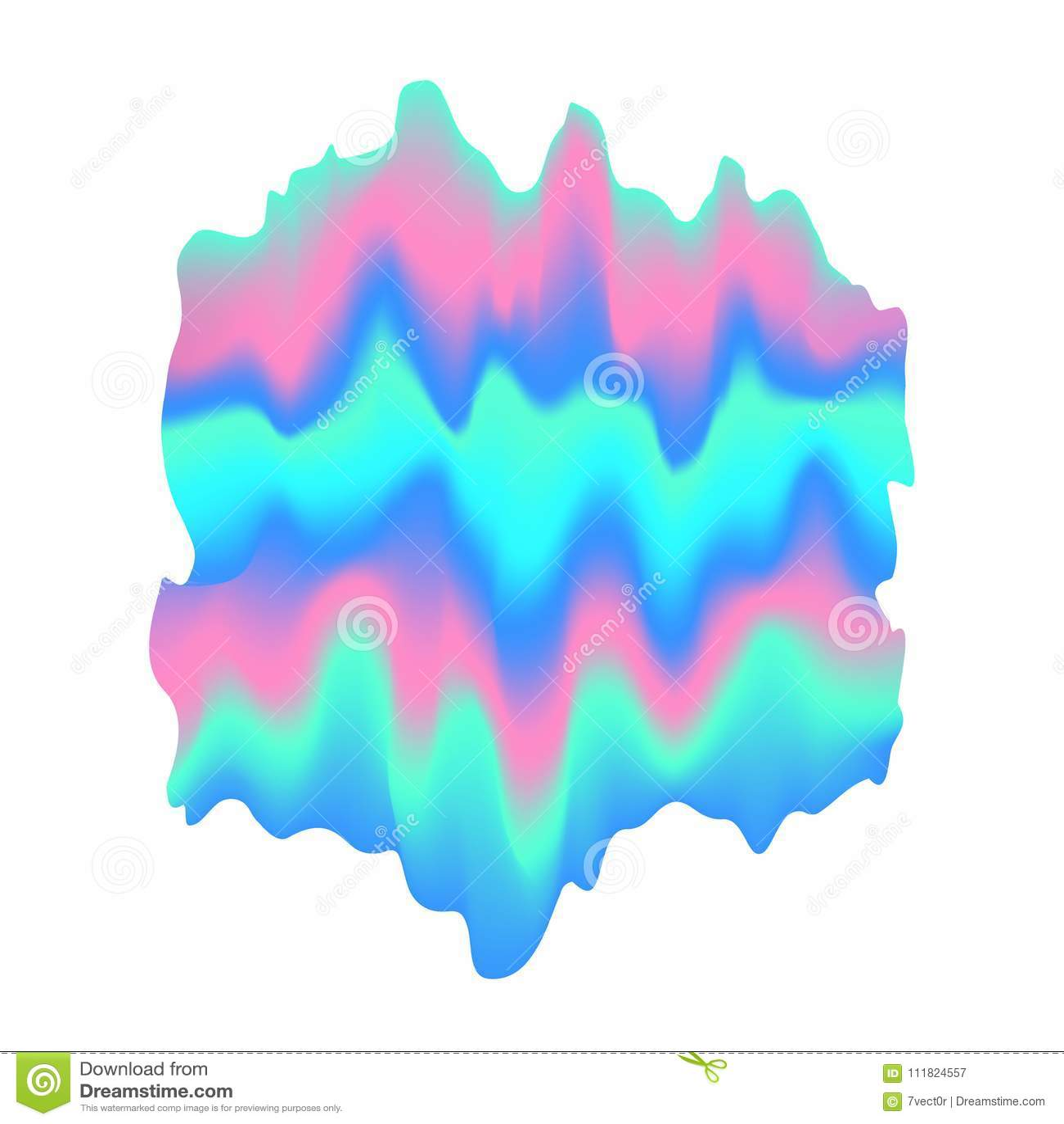 Unscharfe flüssige gewellte ganz eigenhändig geschriebe abstrakte weiche vibrierende rosa blaue Türkisfarben fließen schrullige F