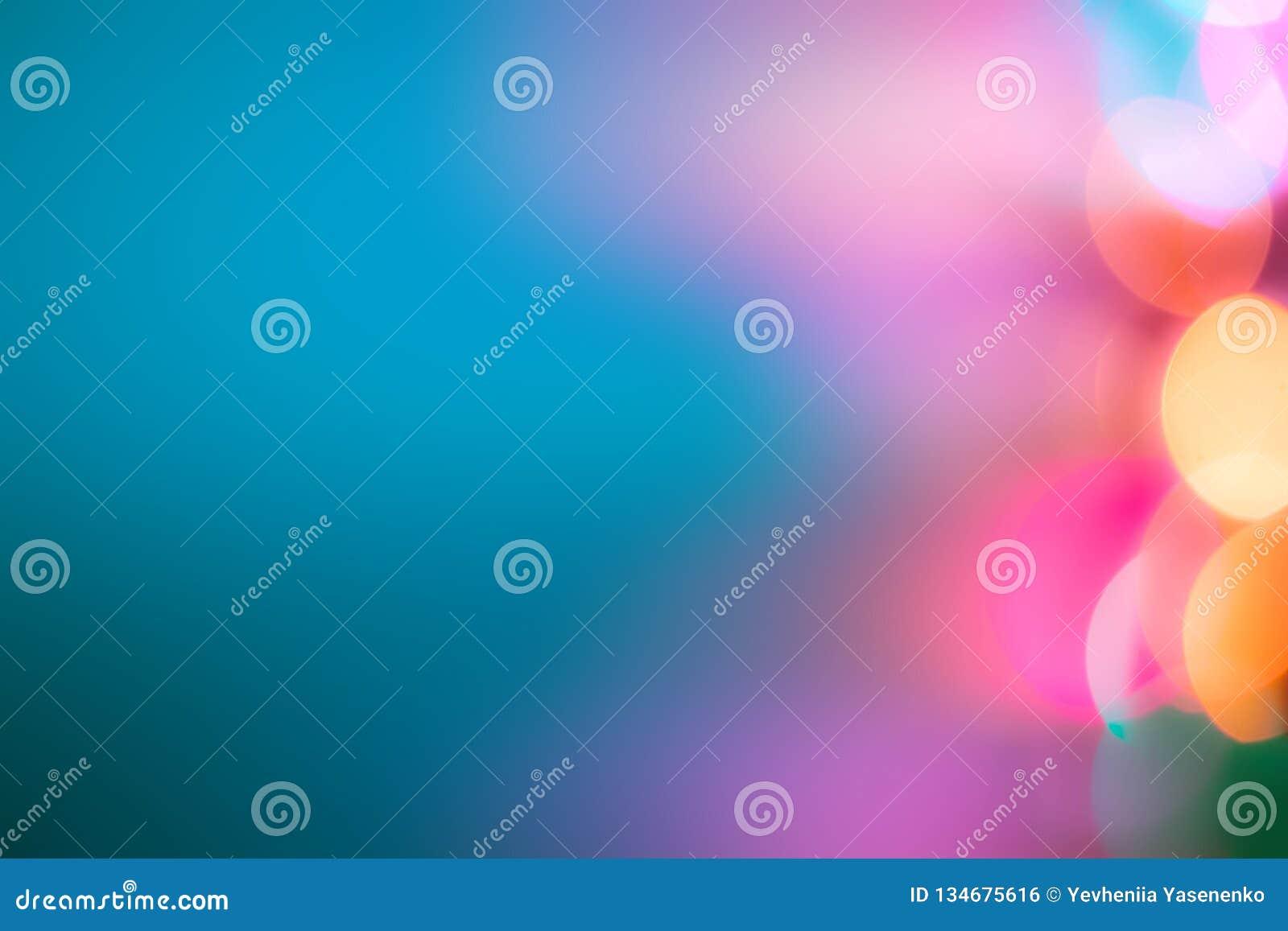 Unscharfer blauer Hintergrund Unscharfe bunte Lichter
