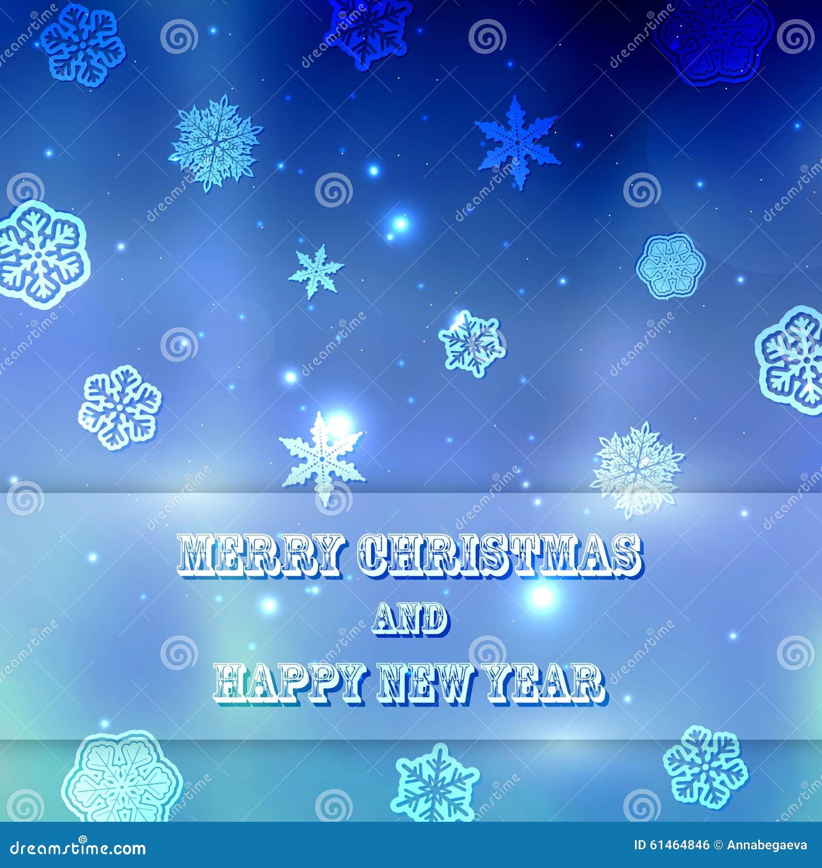 Unscharfer Hintergrund Des Neuen Jahres Blau Mit Schneeflocken Mit ...