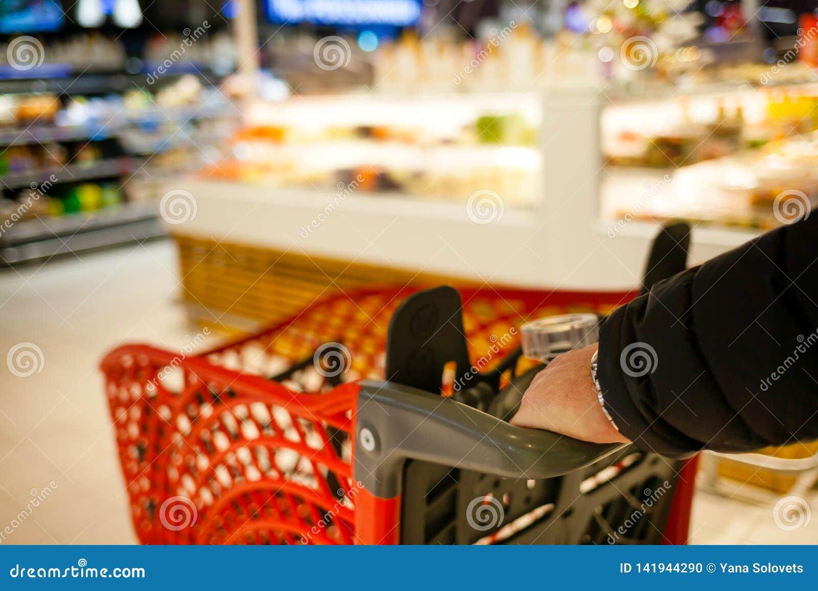 Unscharfer Hintergrund des Supermarktes