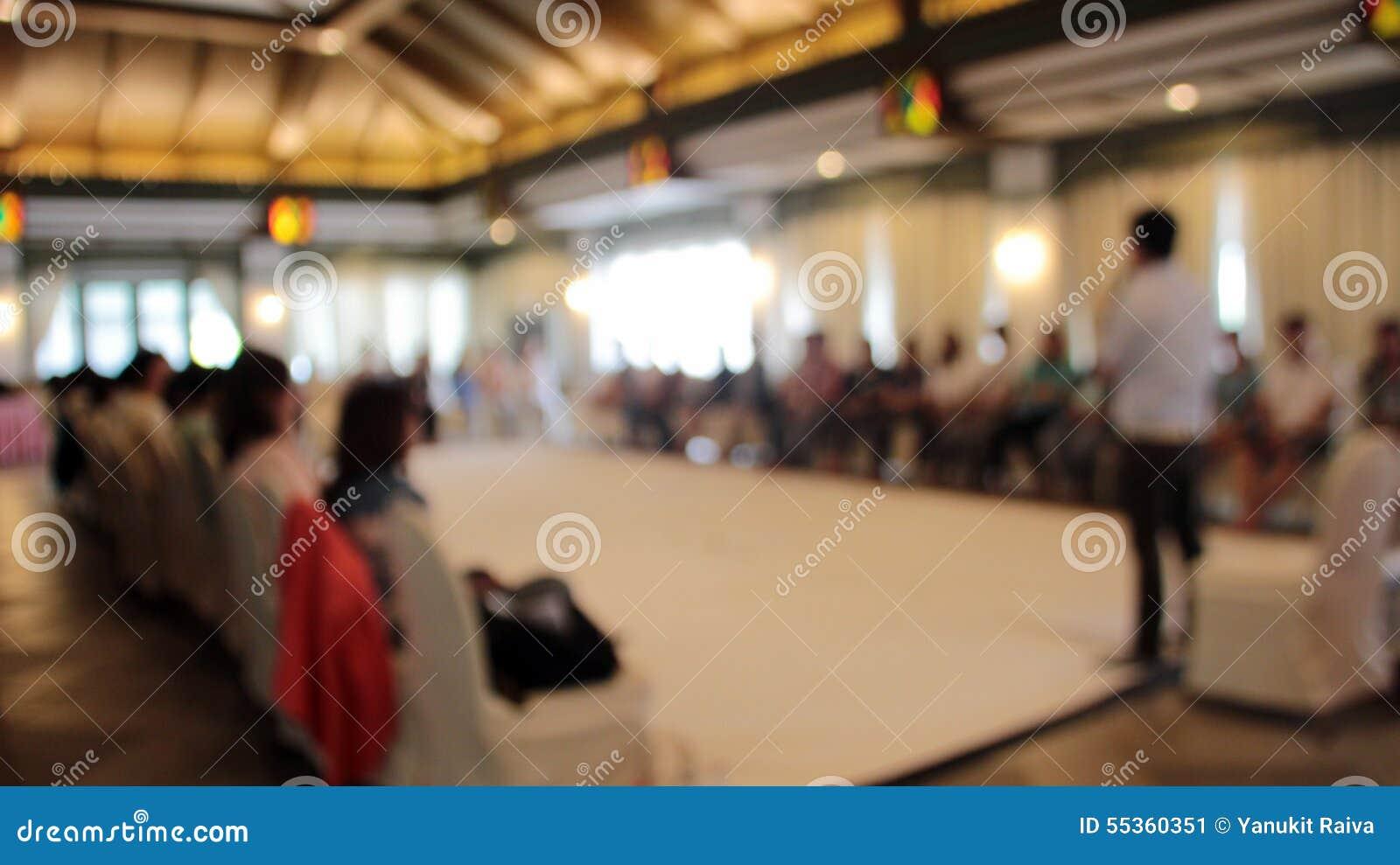 Unscharfer Werkstattsprecher im Seminar