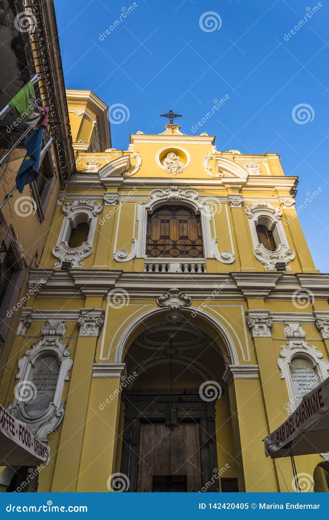 Unsere Dame von das Karmel-Kirche, Sorrent, Italien