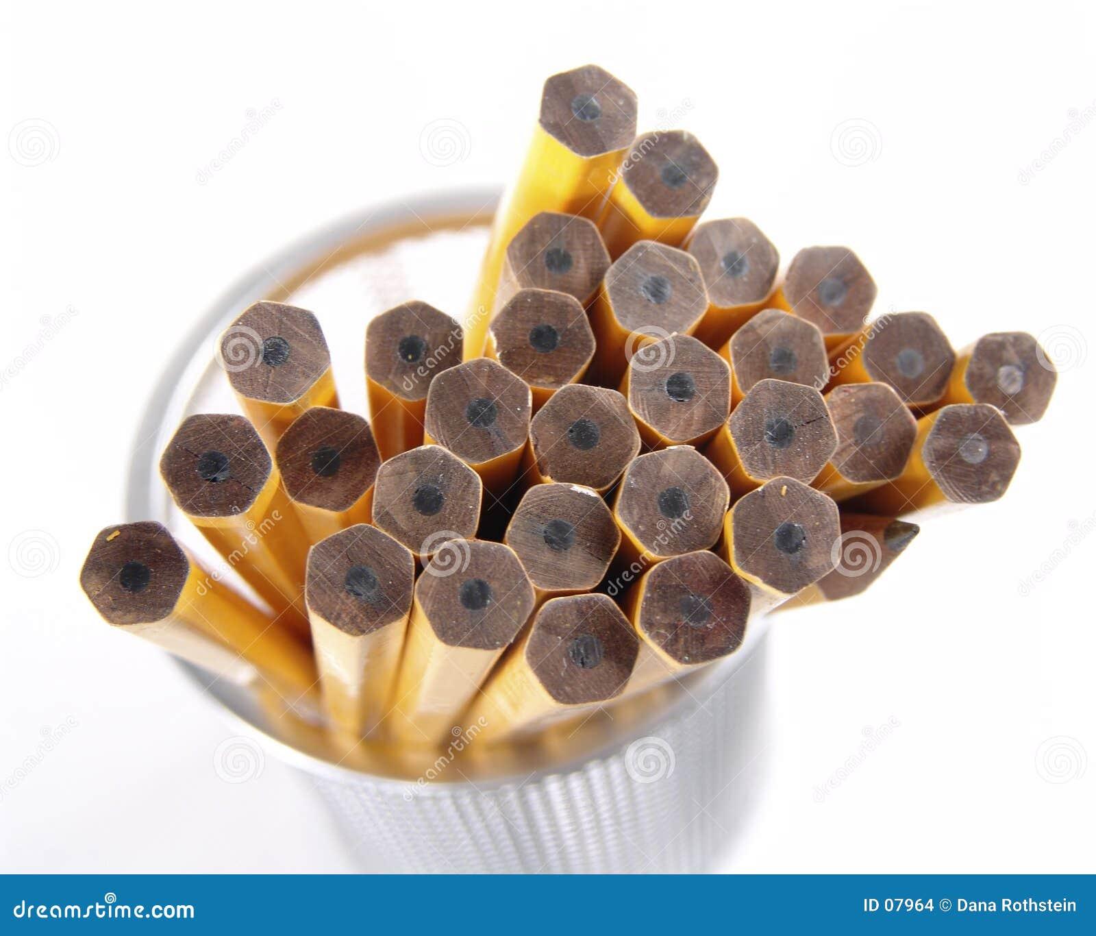 Unsharpened Bleistifte