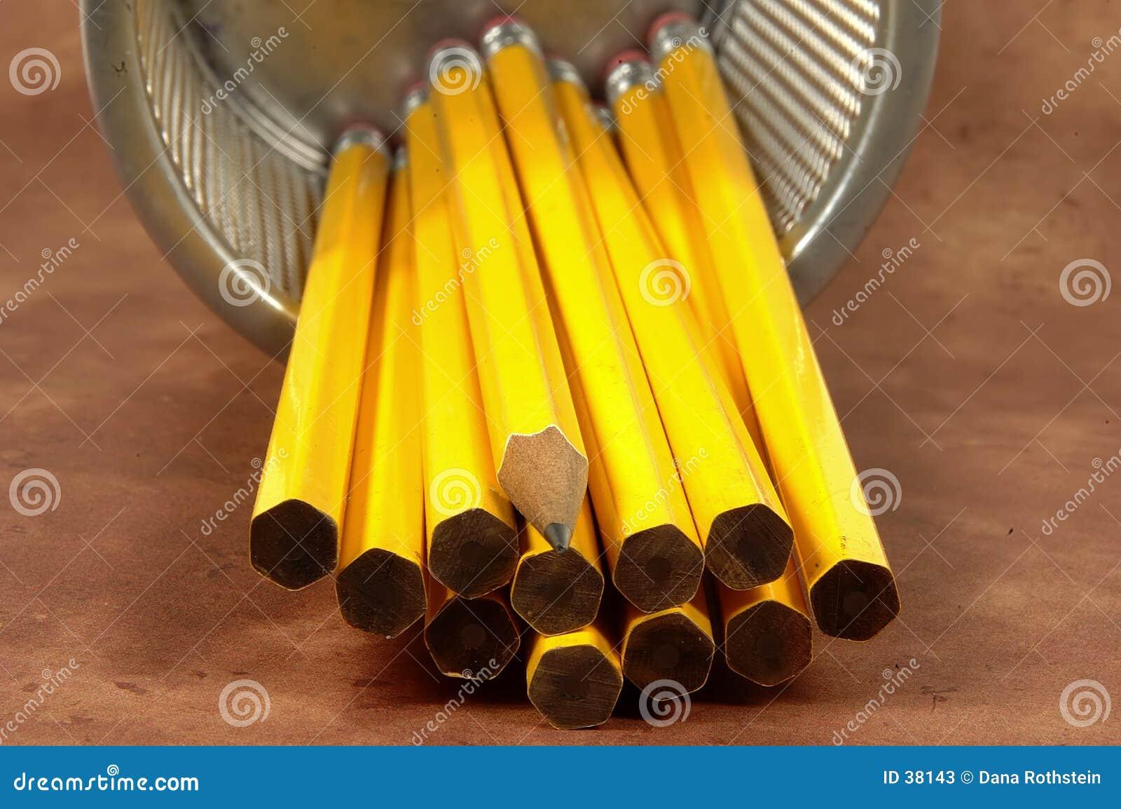 Unsharpened Bleistifte 3