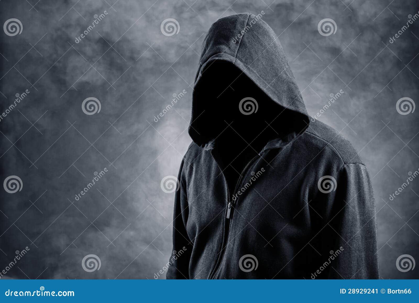 Unsichtbarer Mann in der Haube