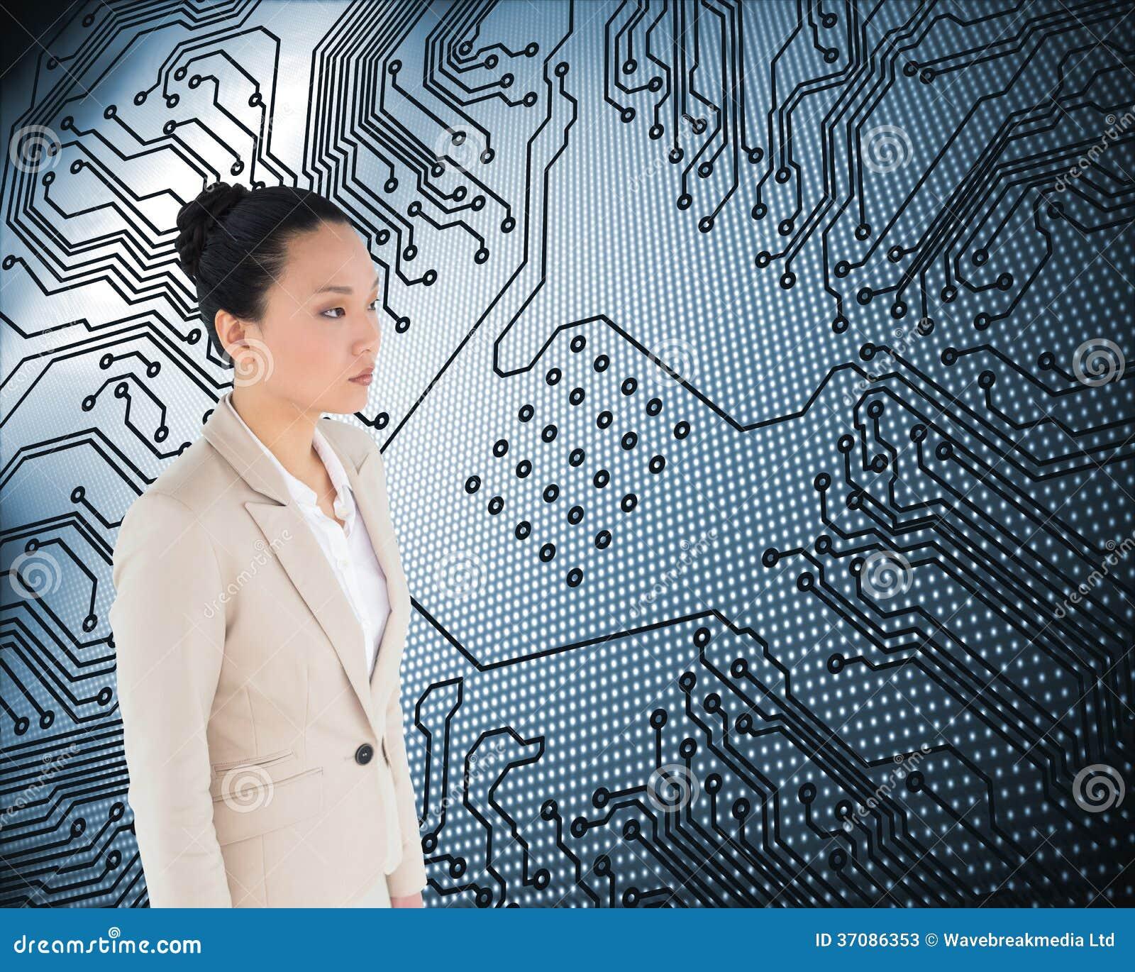 Download Unsmiling Azjatykci Bizneswoman Obraz Stock - Obraz złożonej z obwód, biznes: 37086353