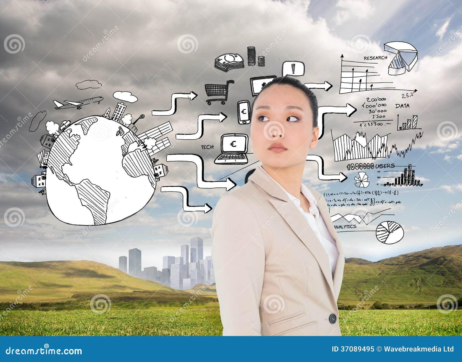 Download Unsmiling Azjatykci Bizneswoman Obraz Stock - Obraz złożonej z ziemia, markham: 37089495