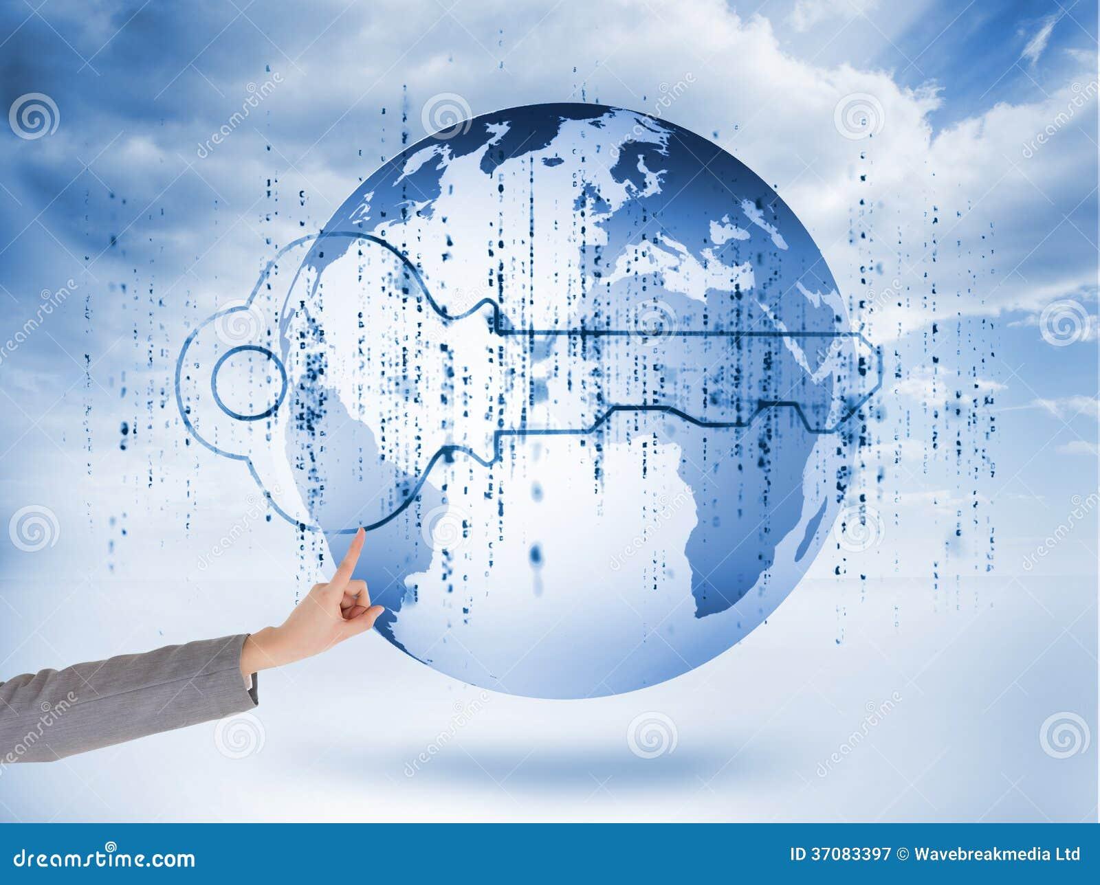 Download Unsmiling Azjatykci Bizneswomanu Wskazywać Obraz Stock - Obraz złożonej z świat, klucz: 37083397