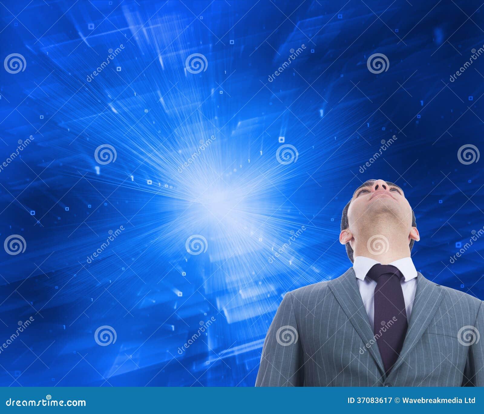 Download Unsmiling Biznesmen Pozycja Obraz Stock - Obraz złożonej z digitise, well: 37083617