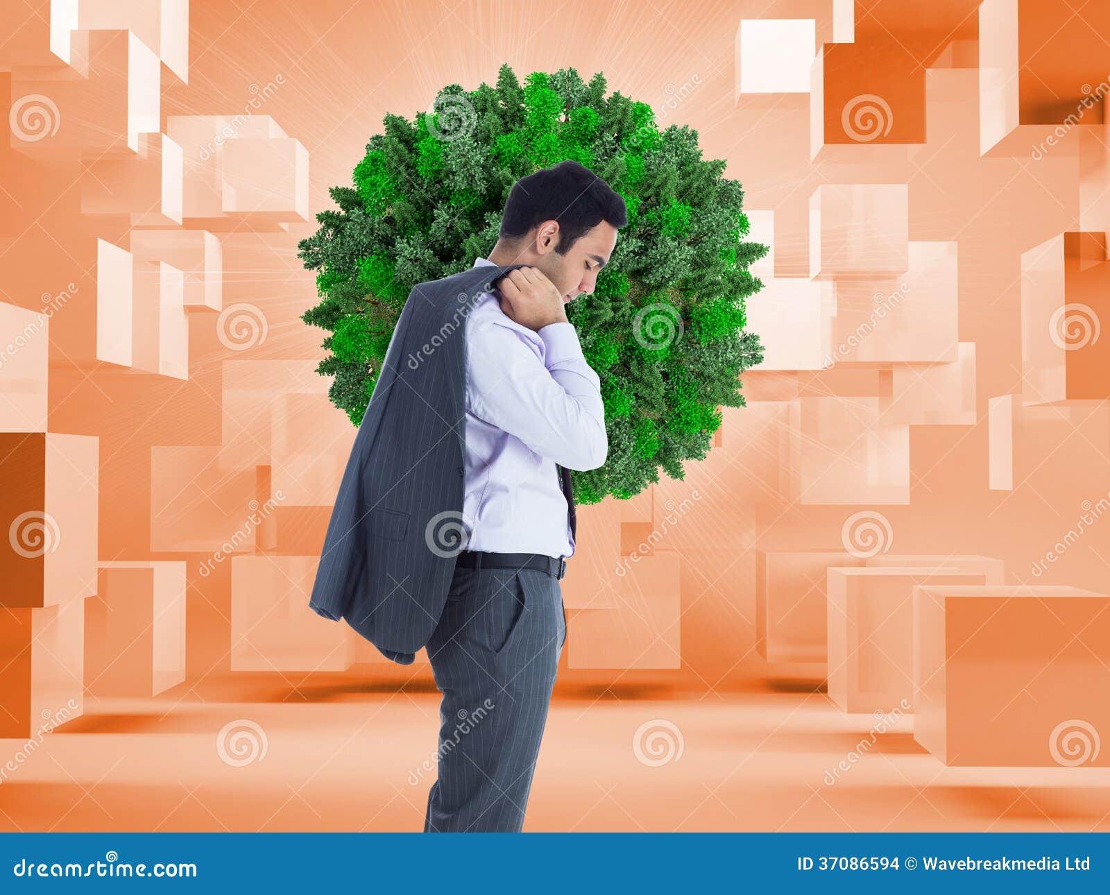 Download Unsmiling Biznesmen Pozycja Zdjęcie Stock - Obraz złożonej z brąz, wytwarza: 37086594