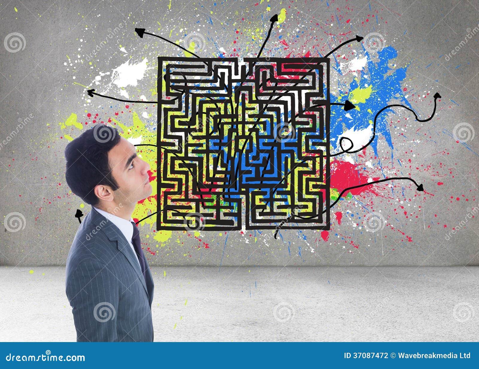Download Unsmiling Biznesmen Pozycja Zdjęcie Stock - Obraz złożonej z greenbacks, jeden: 37087472