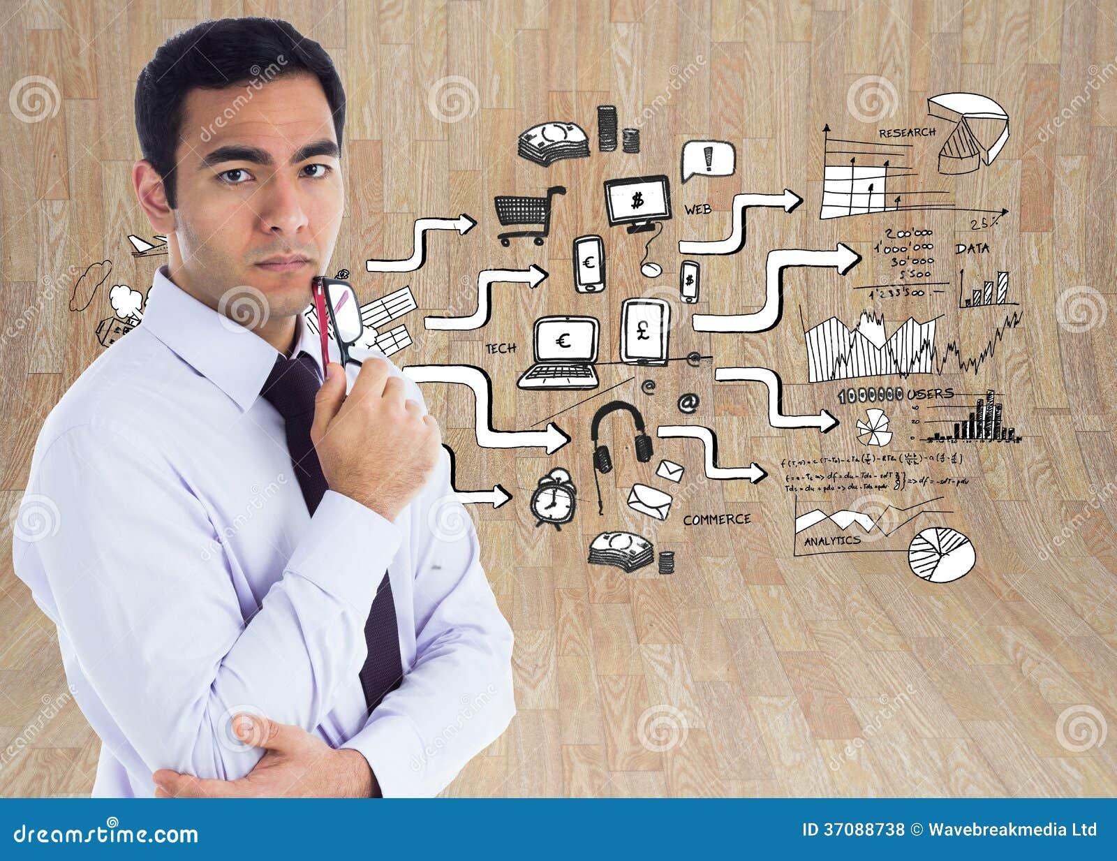 Download Unsmiling Biznesmen Trzyma Szkła Zdjęcie Stock - Obraz złożonej z potomstwa, wytwarza: 37088738