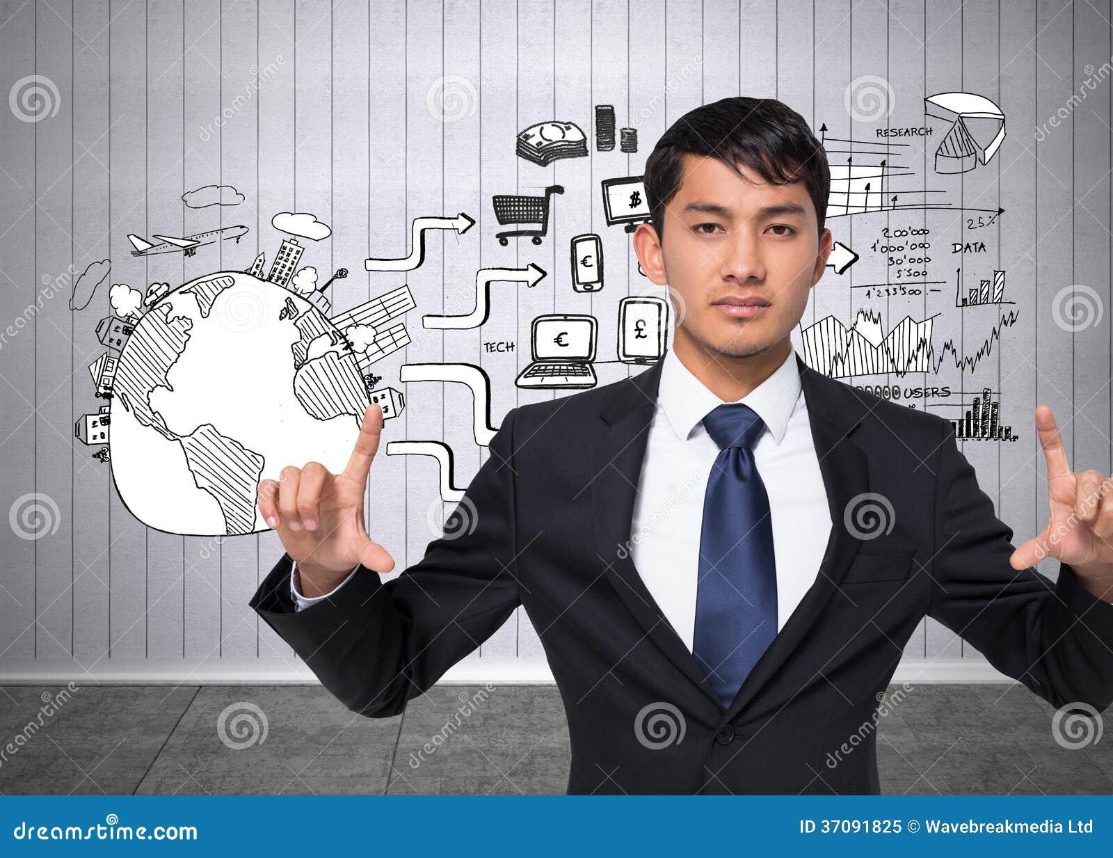 Download Unsmiling Biznesmena Mienie Obraz Stock - Obraz złożonej z potomstwa, łączliwość: 37091825