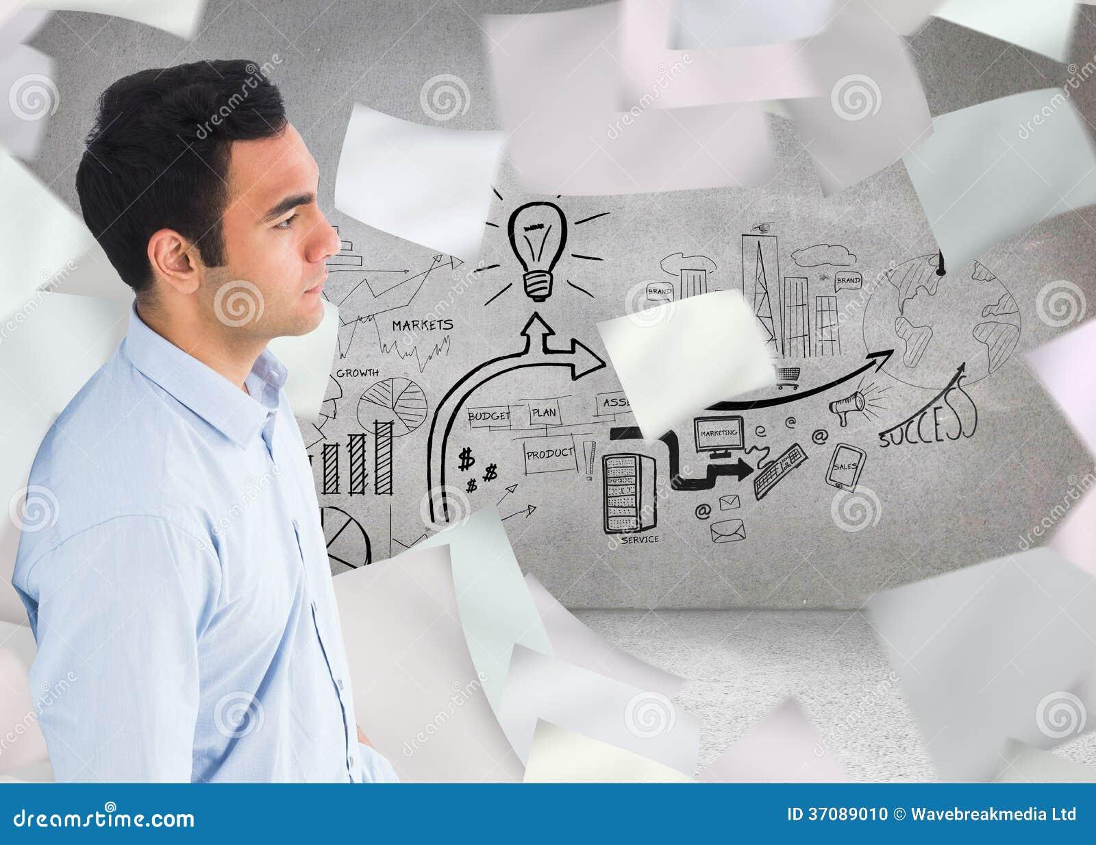 Download Unsmiling Przypadkowa Mężczyzna Pozycja Zdjęcie Stock - Obraz złożonej z pomysł, composite: 37089010